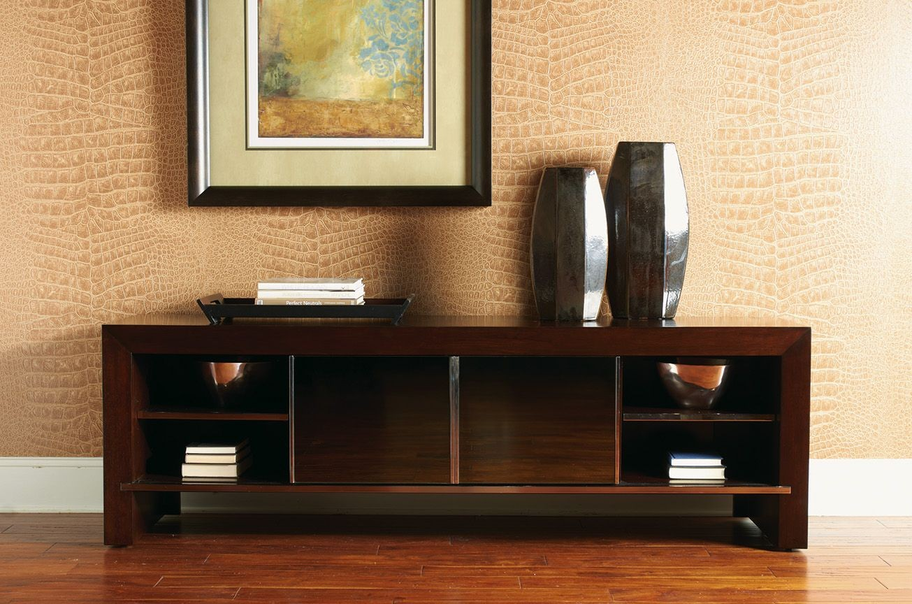 studio designs meridian smoked tv console from sligh 04. Black Bedroom Furniture Sets. Home Design Ideas