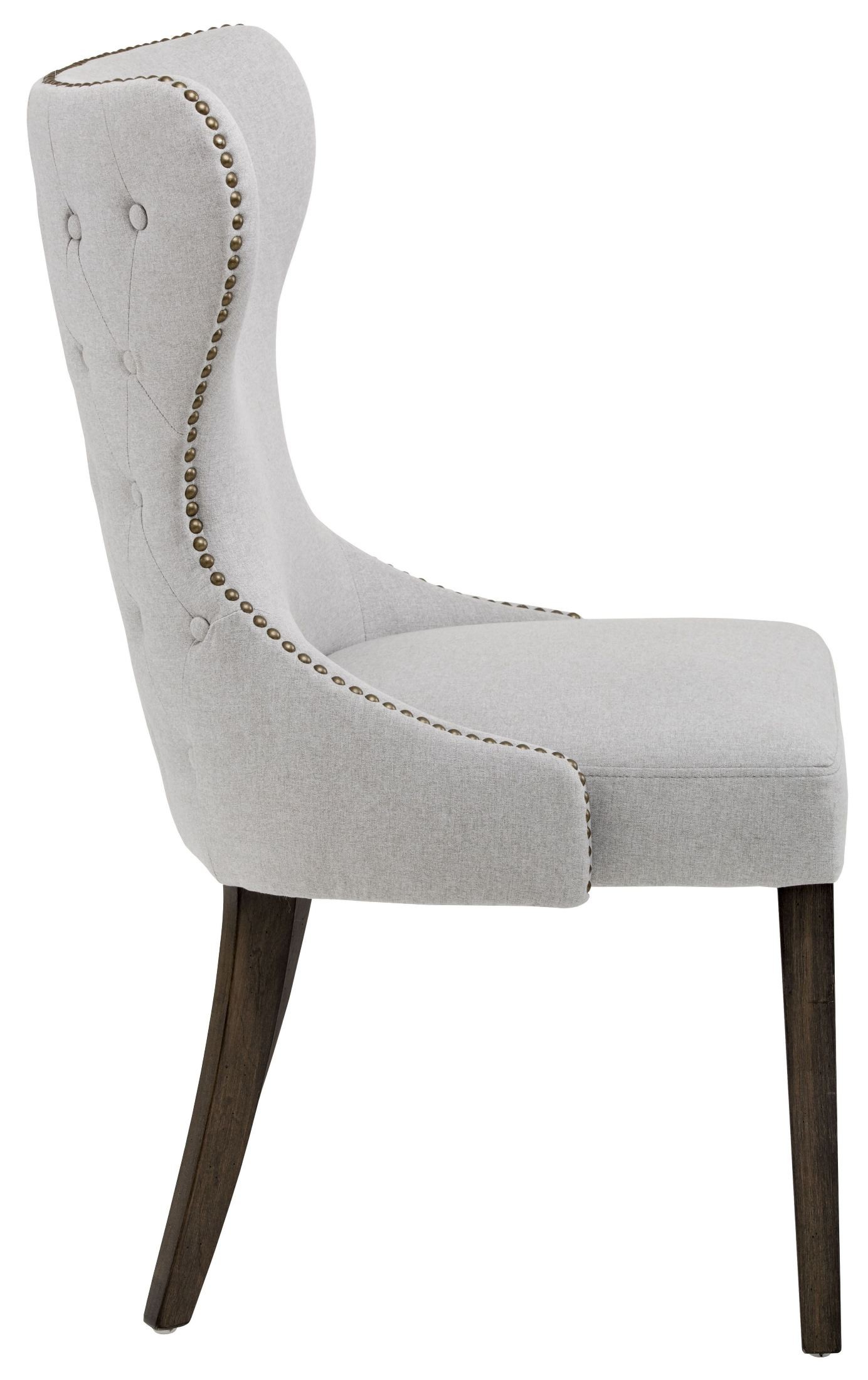 Ariana Light Grey Fabric Dining Chair Sunpan
