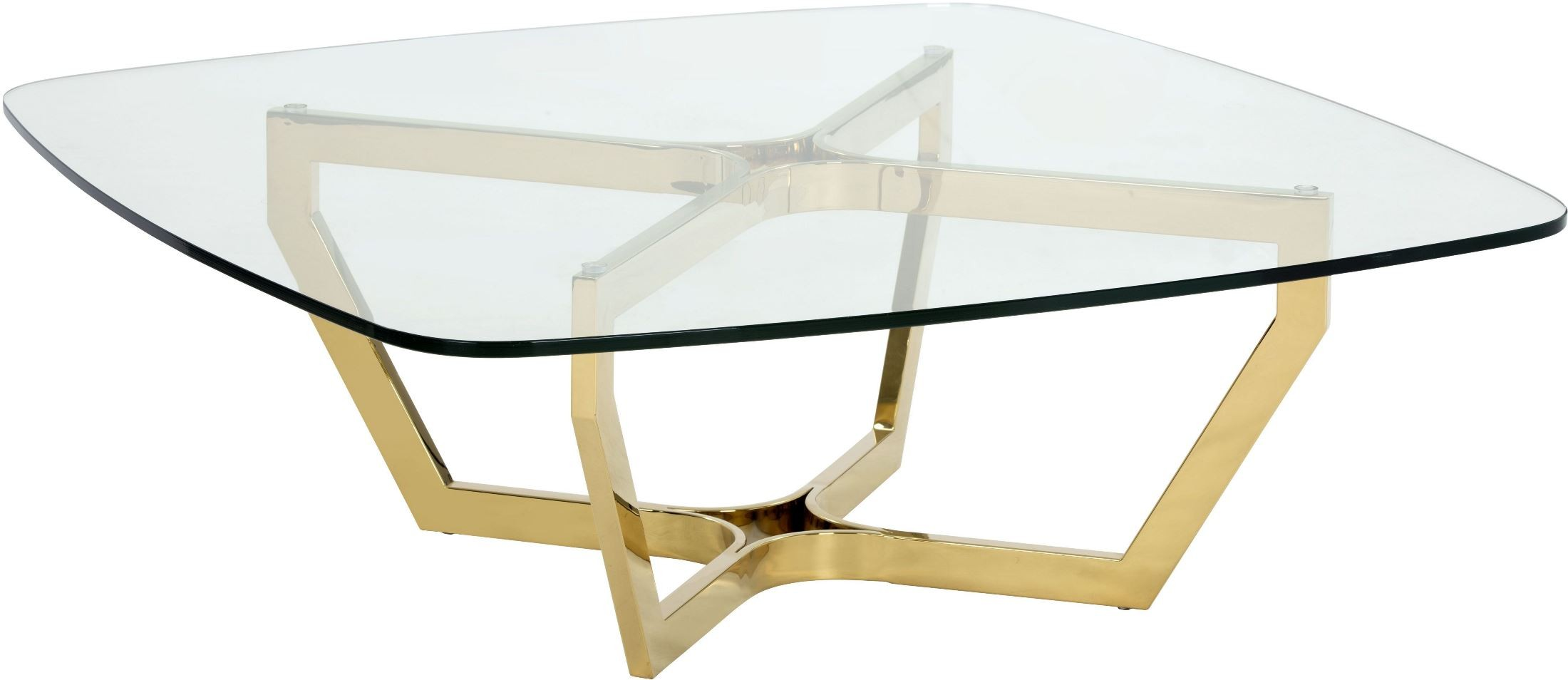 Archer yellow gold metal coffee table 101264 sunpan modern home Gold metal coffee table