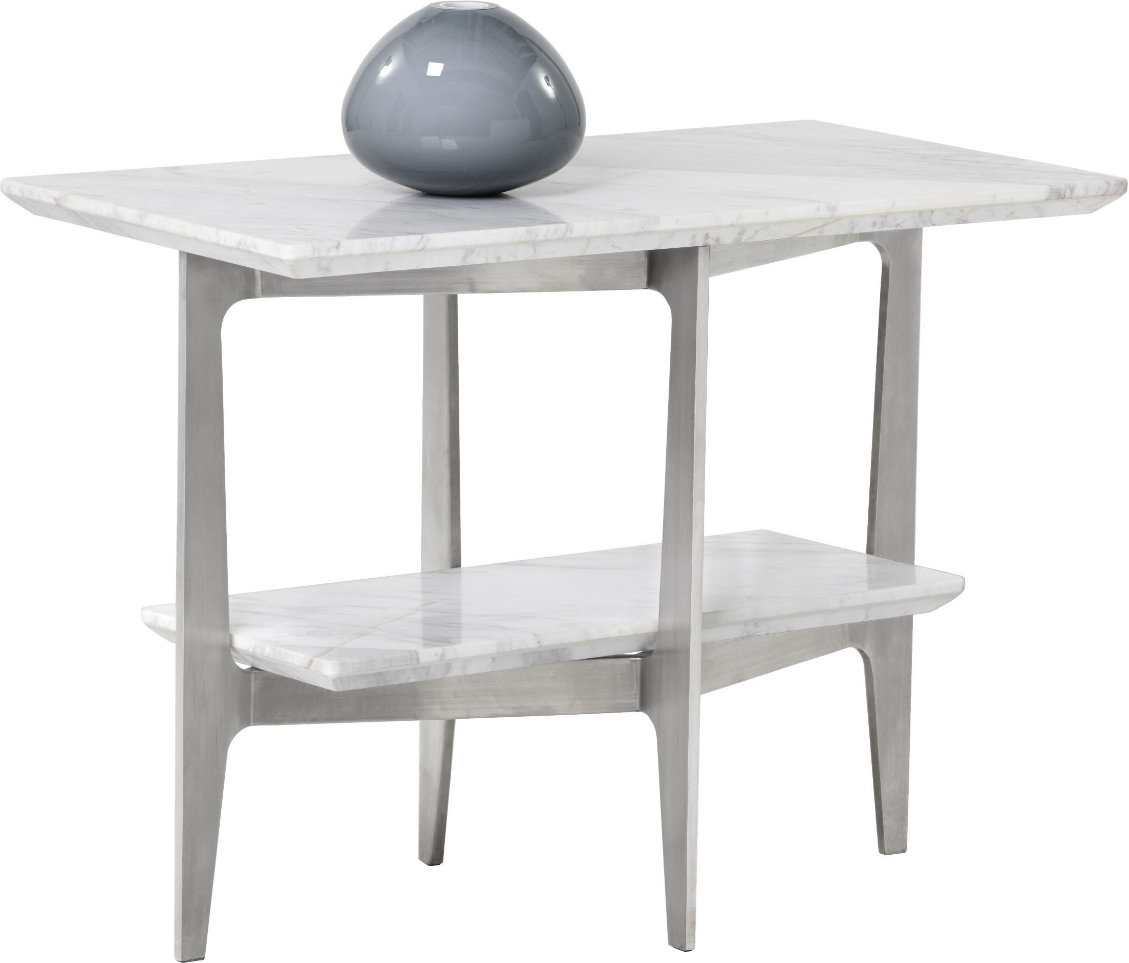 clearwater white marble end table 101311 sunpan modern home. Black Bedroom Furniture Sets. Home Design Ideas