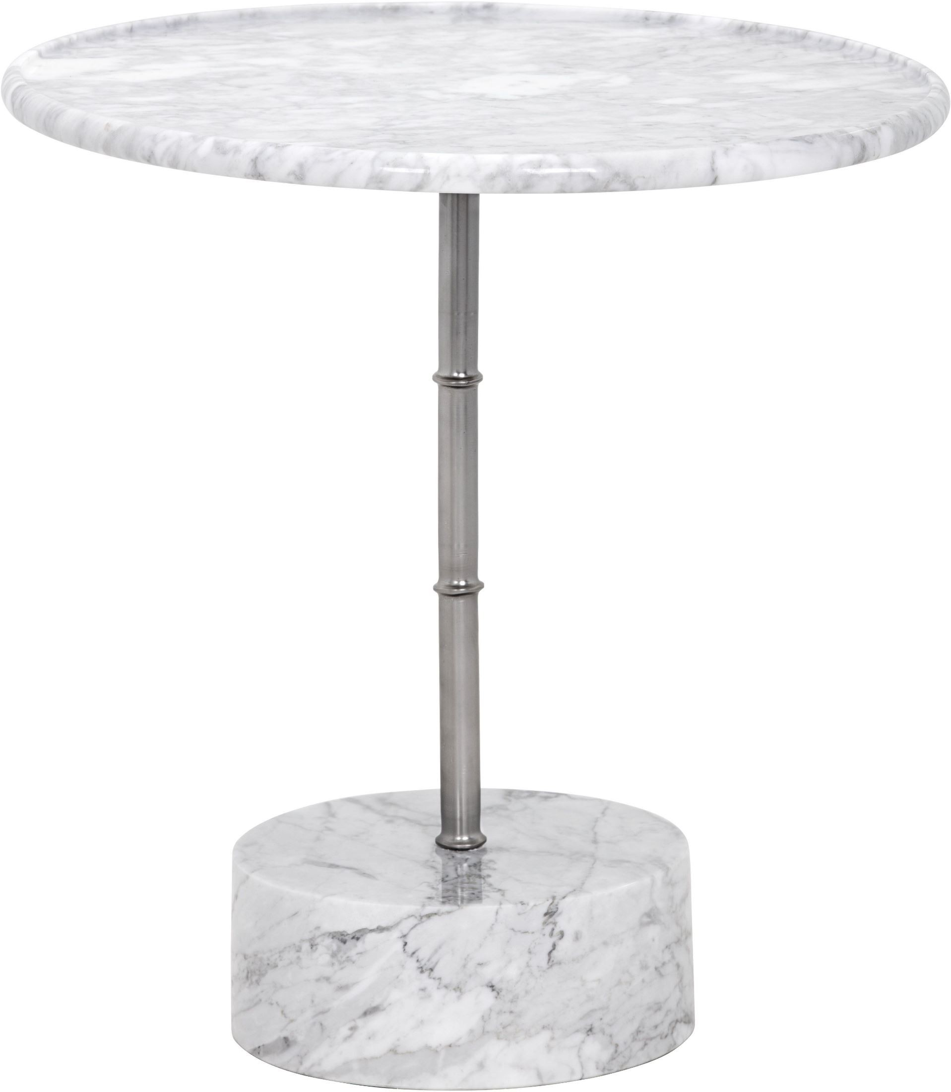 Milano White Marble Side Table Sunpan Modern Home