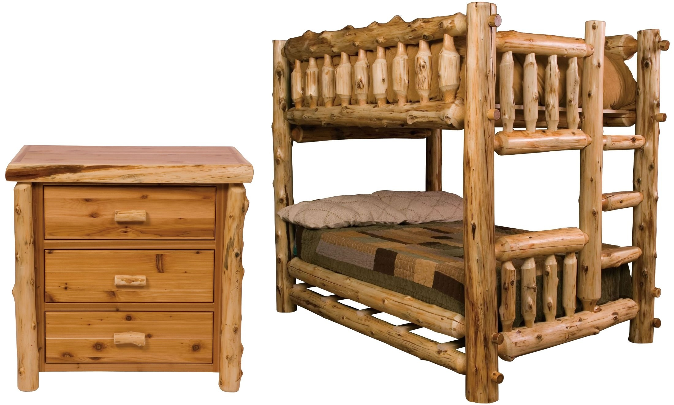 traditional cedar bunk bedroom set from fireside lodge