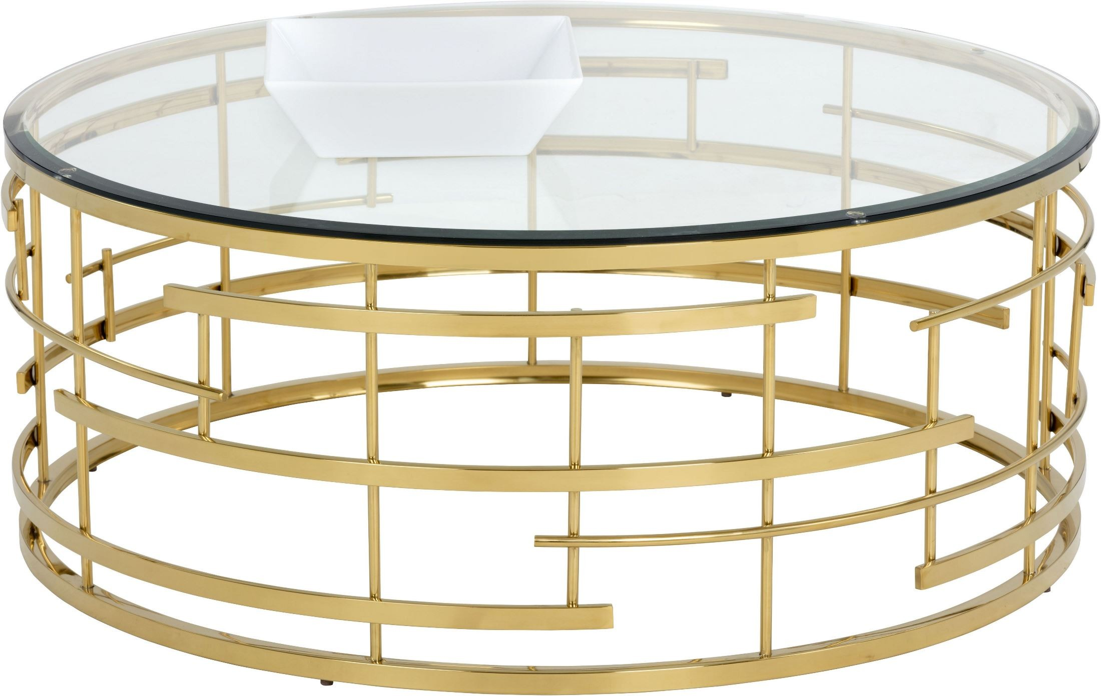 Cielo gold metal coffee table 101485 sunpan modern home Gold metal coffee table