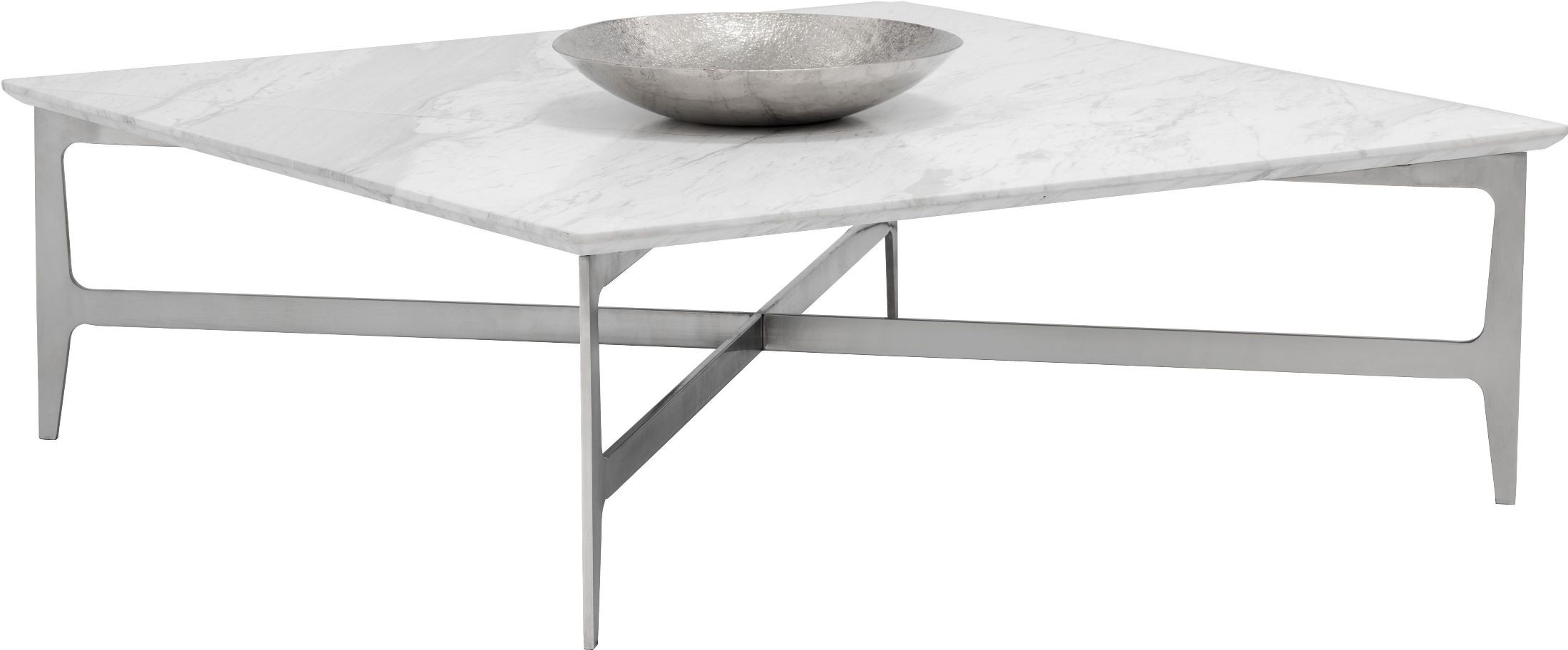 Clearwater White Marble Square Coffee Table 101503 Sunpan Modern Home