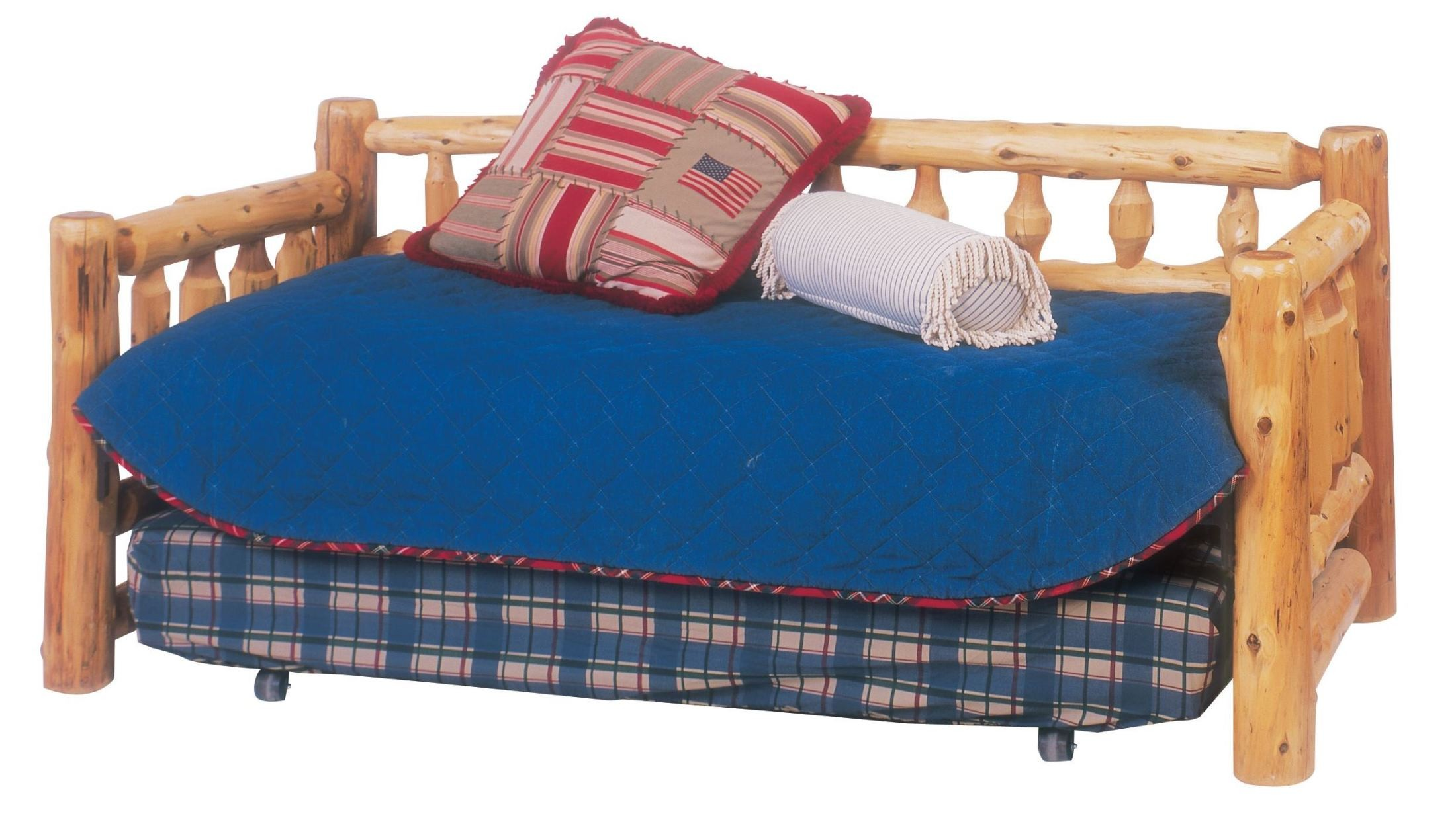 Daybed with trundle from fireside lodge 10156 coleman furniture