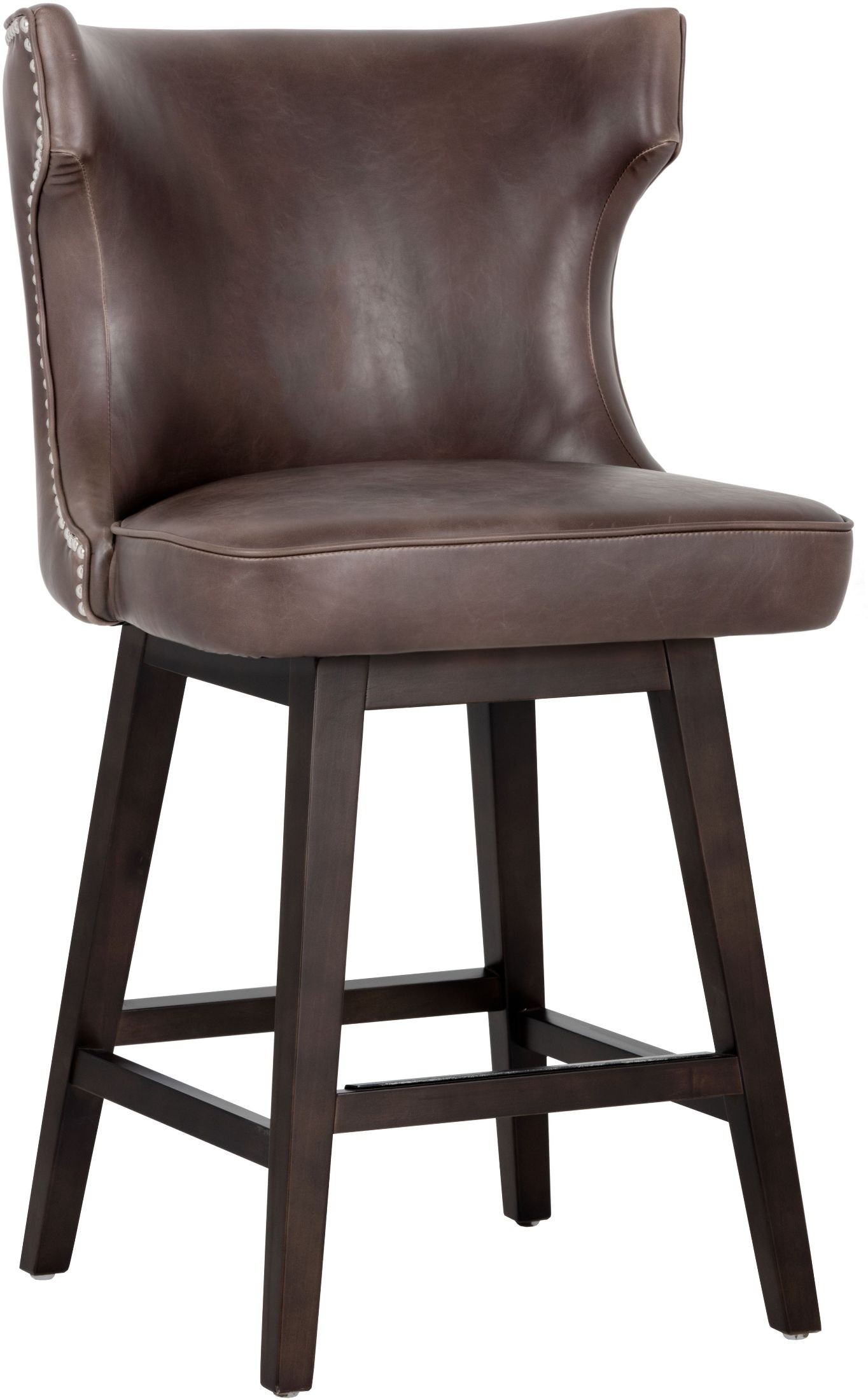Neville Havana Dark Brown Swivel Counter Stool 101946