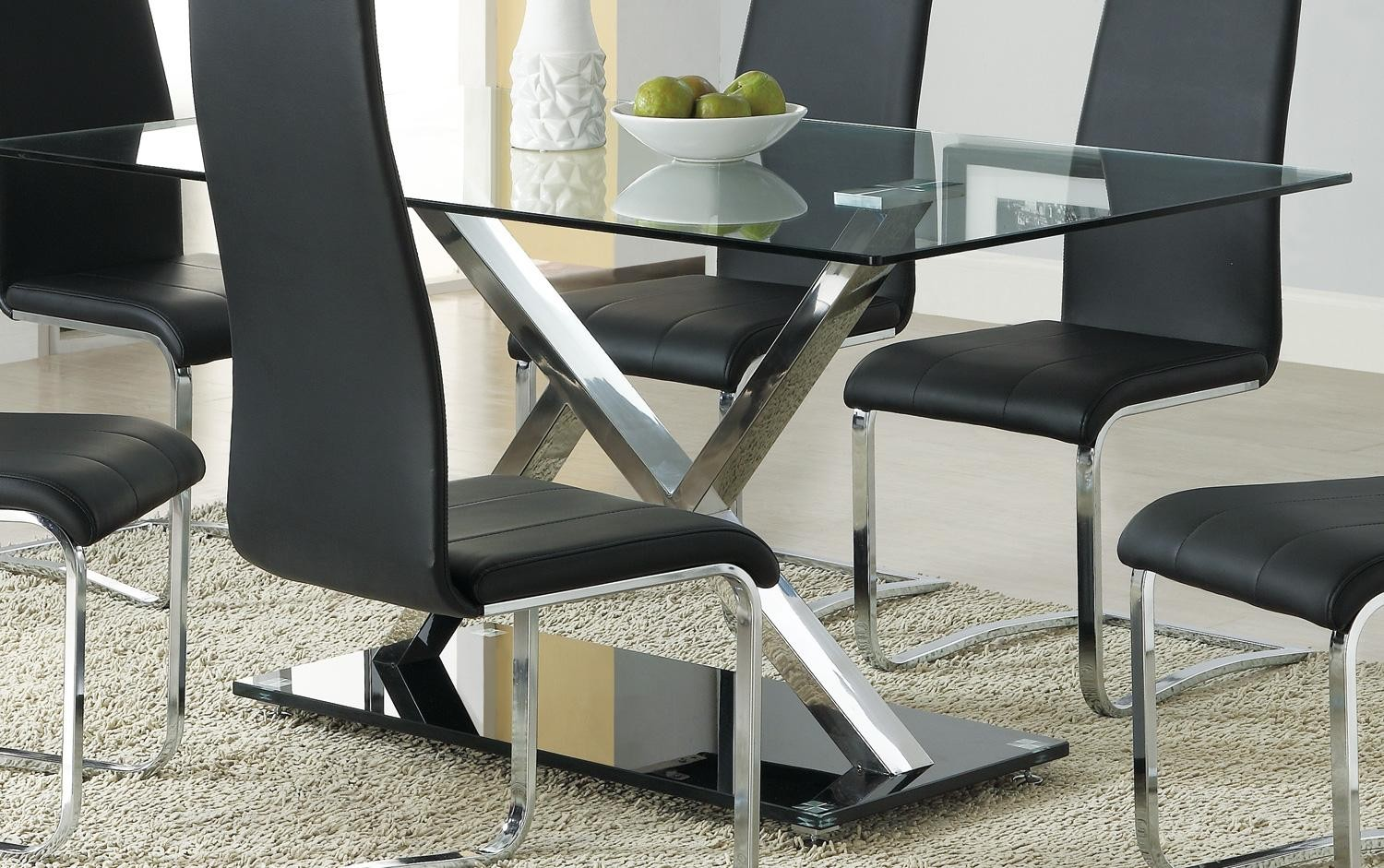120 XY Chrome Dining Table from Coaster 102320 Coleman  : 102320 from colemanfurniture.com size 1500 x 941 jpeg 328kB