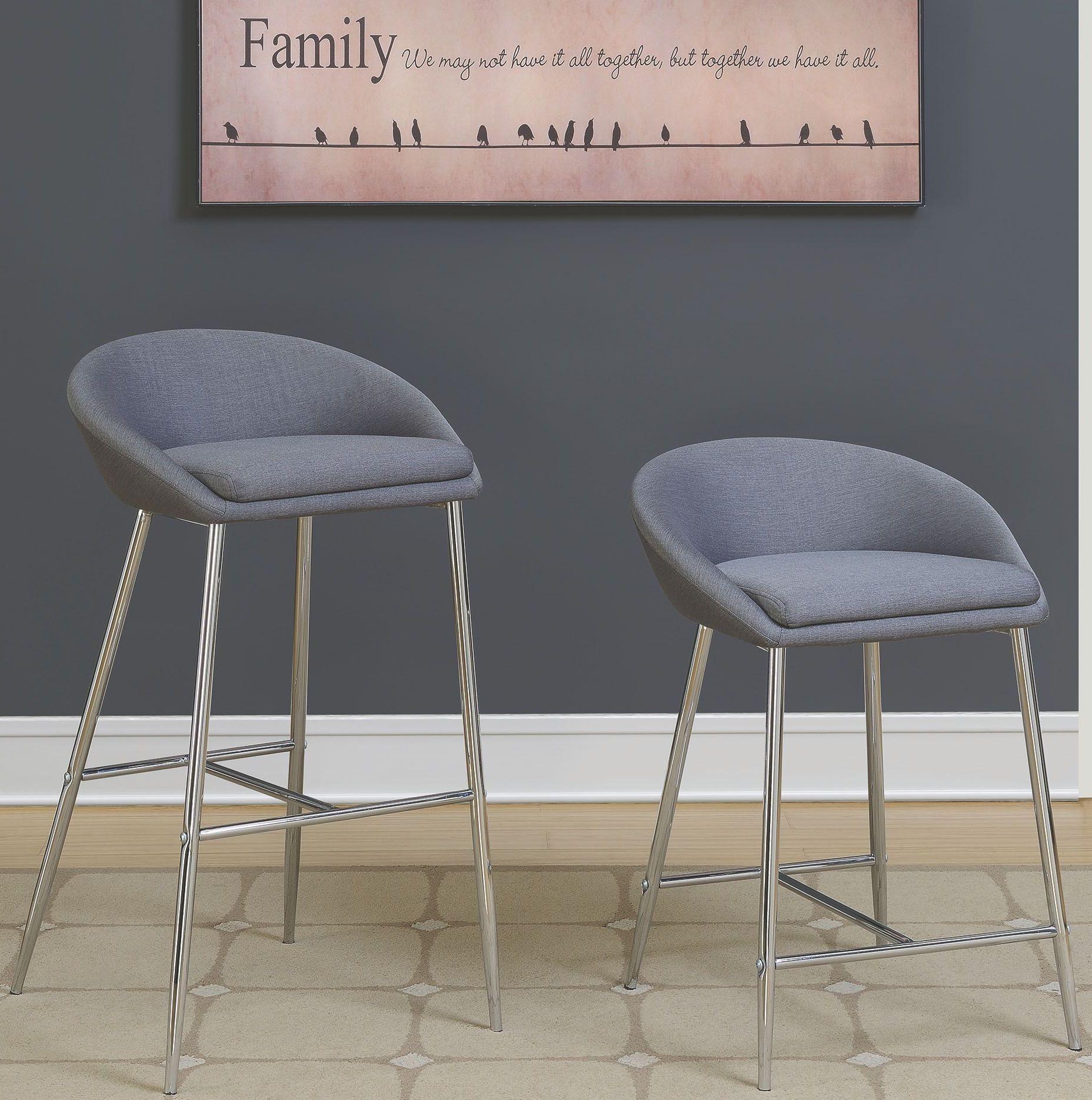 Rec Room Grey Upholstered Bar Stool Set Of 2 102525  : 102525102684 from colemanfurniture.com size 1856 x 1870 jpeg 551kB