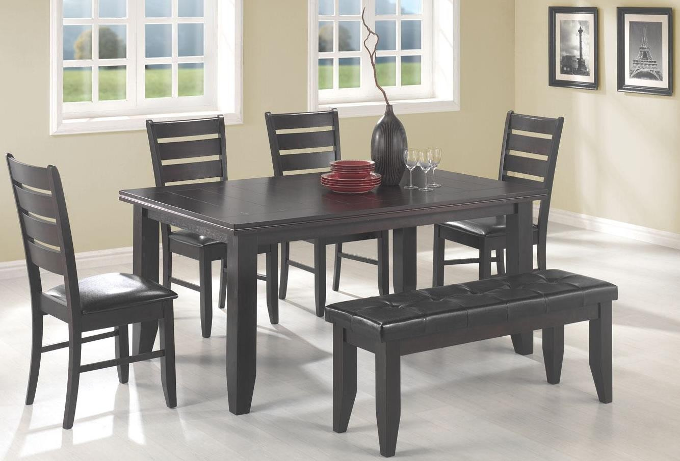 page cappuccino rectangular dining room set from coaster cappuccino dining room furniture collection furniture