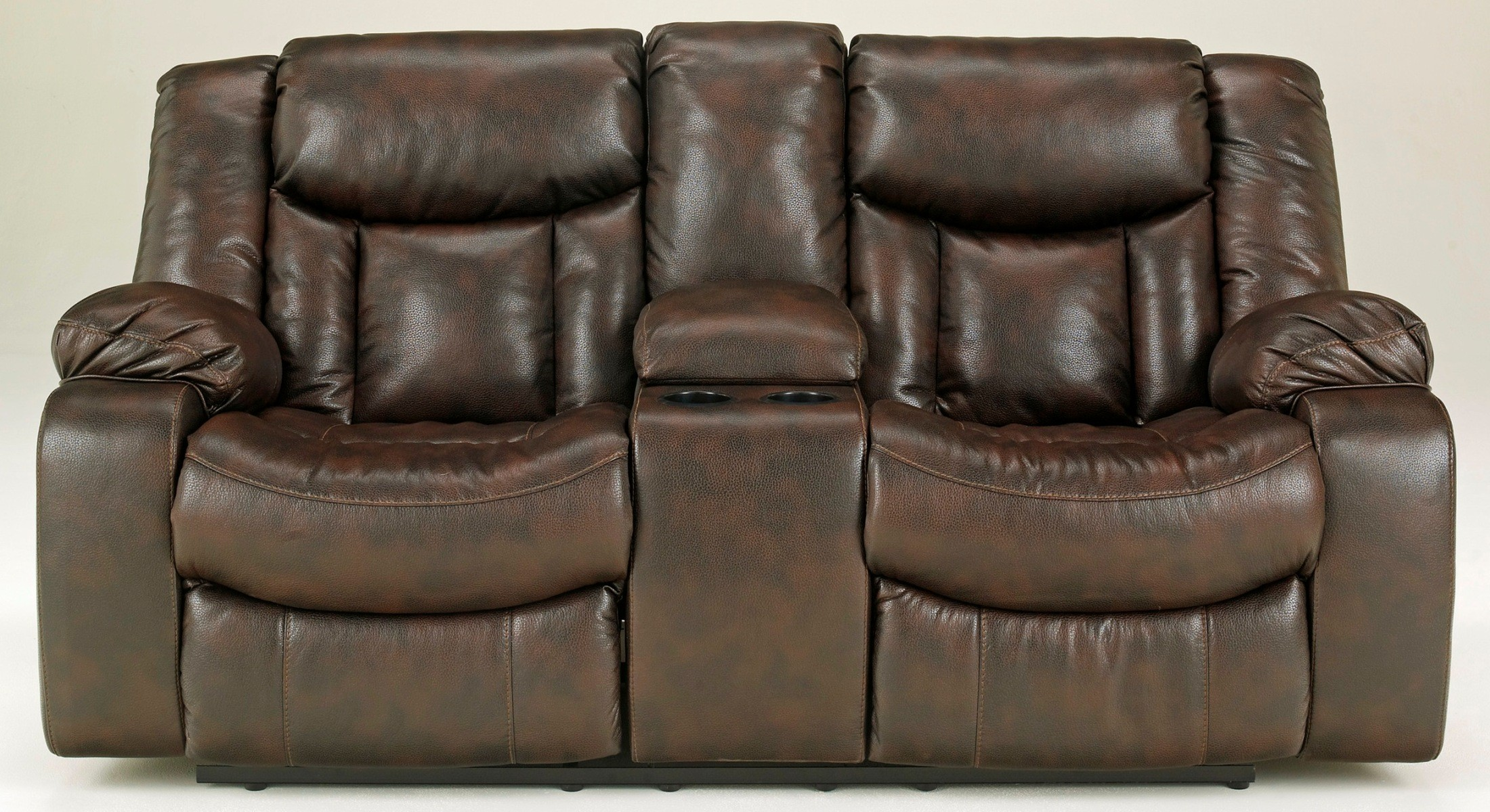 Carnell Double Power Reclining Loveseat With Console 1030096 Ashley Furniture