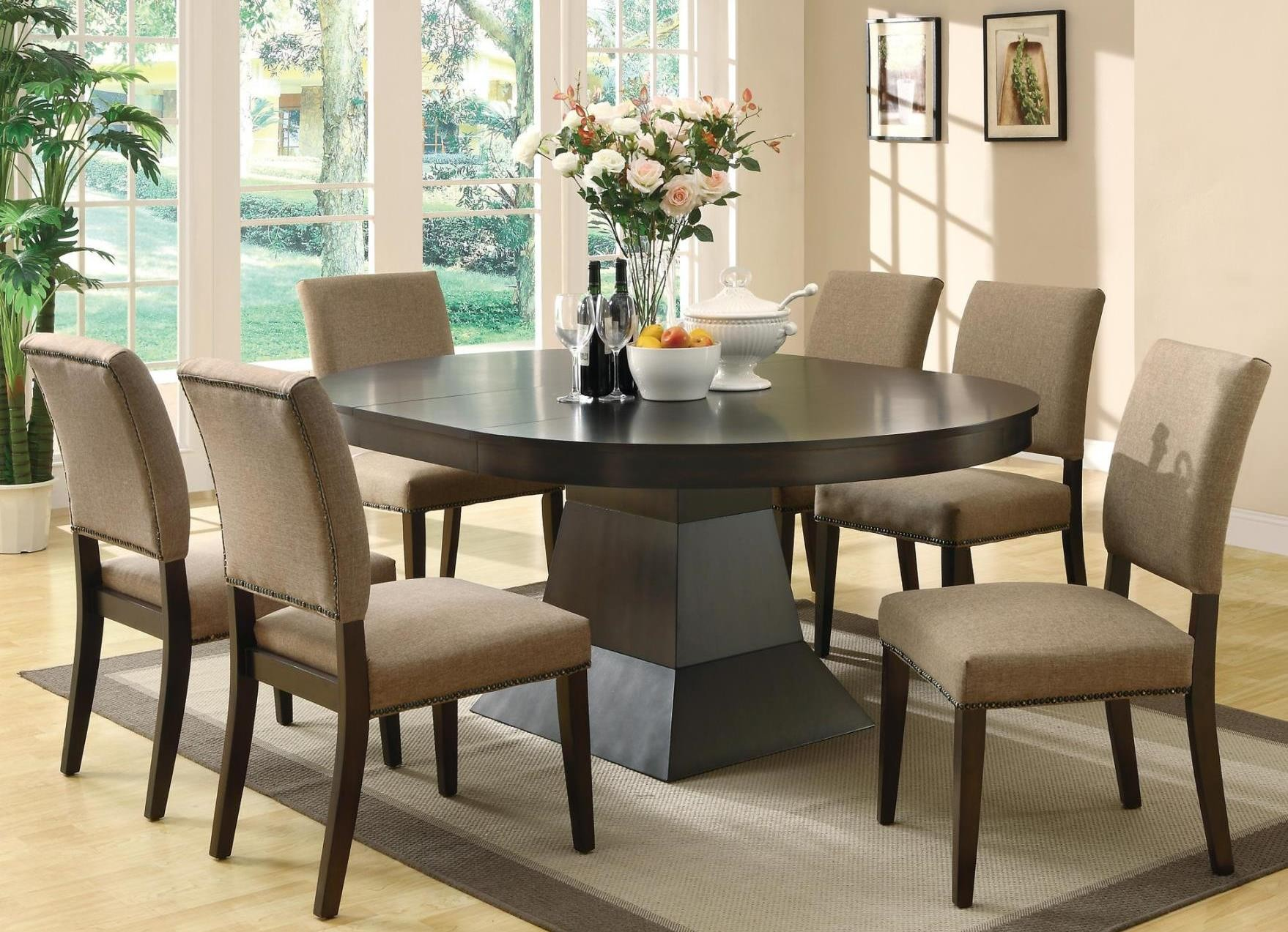 Myrtle Cappuccino Round Extendable Dining Room Set From Coaster 103571 Co