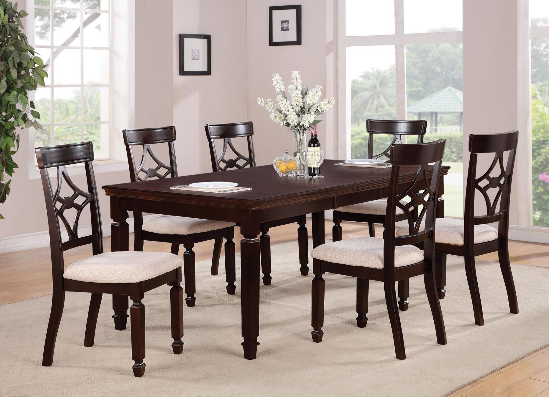 maude cherry rectangular dining room set 103631 coaster