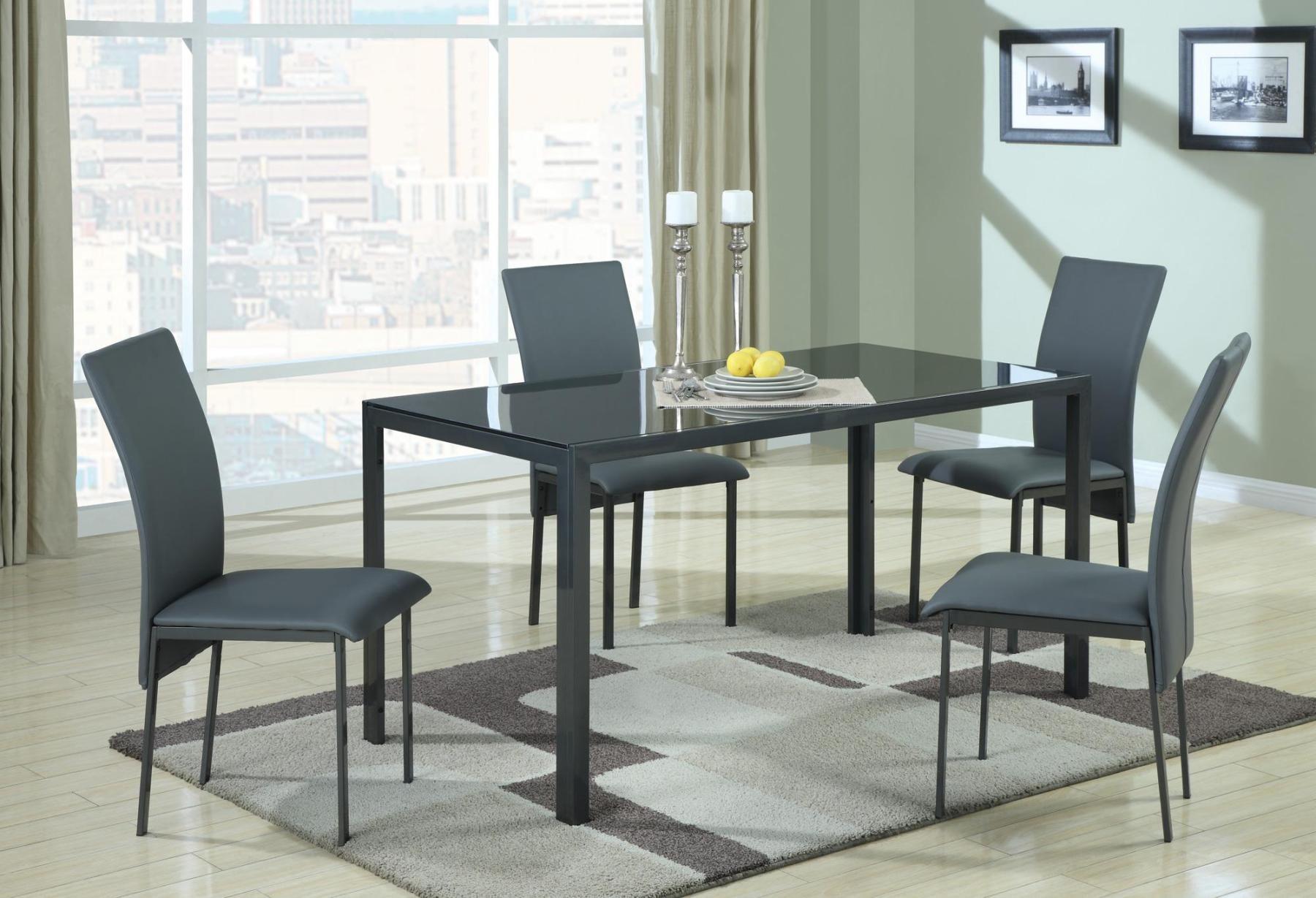 ophelia grey rectangular dining room set 1037 coaster