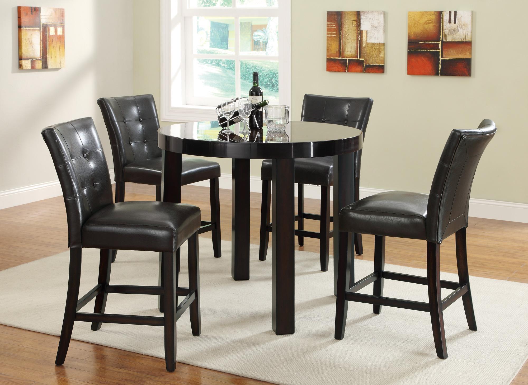 orlando round counter height dining room set 103798 coaster