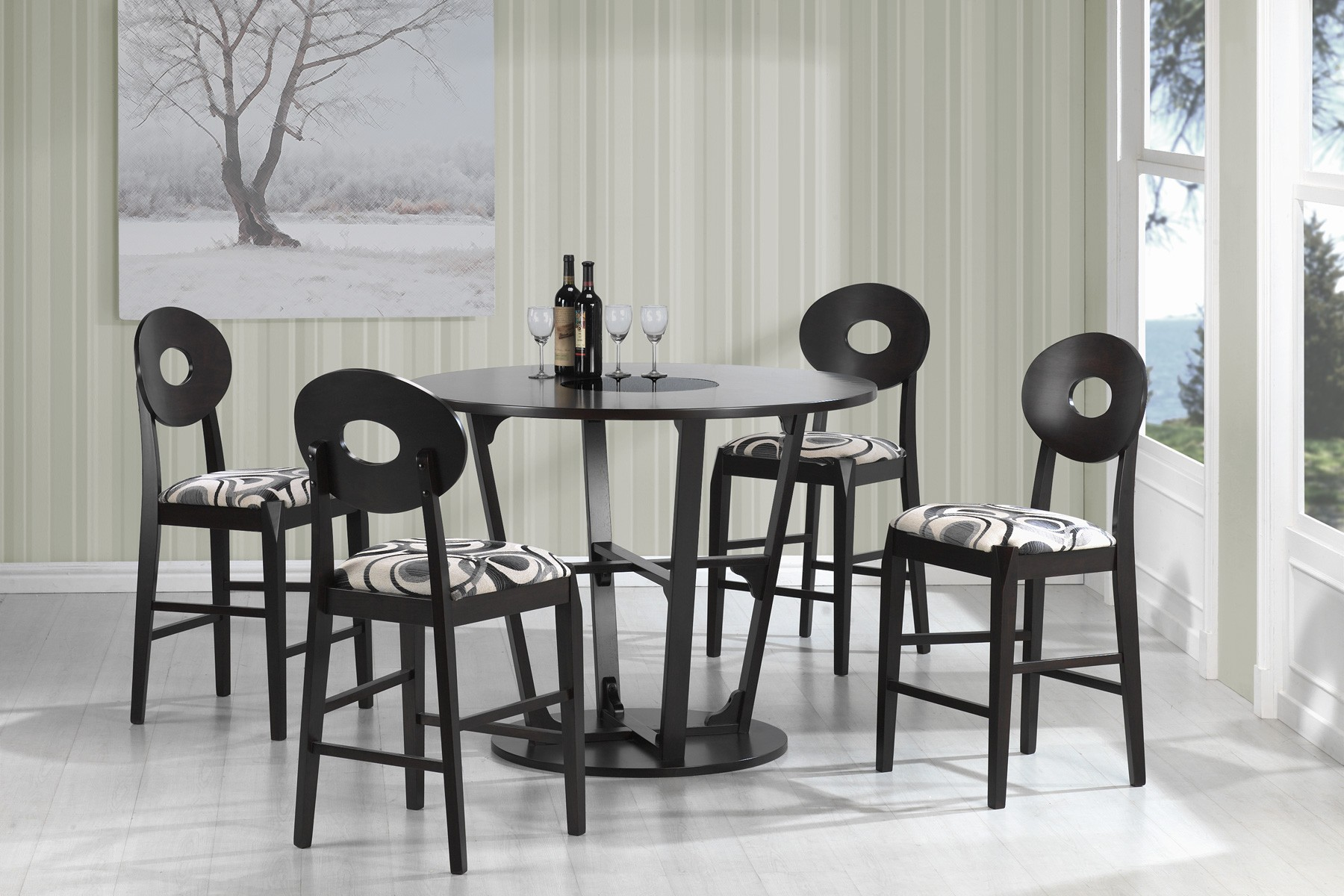gregory cappuccino counter height dining room set 103861 stapleton cappuccino round dining room set 106741
