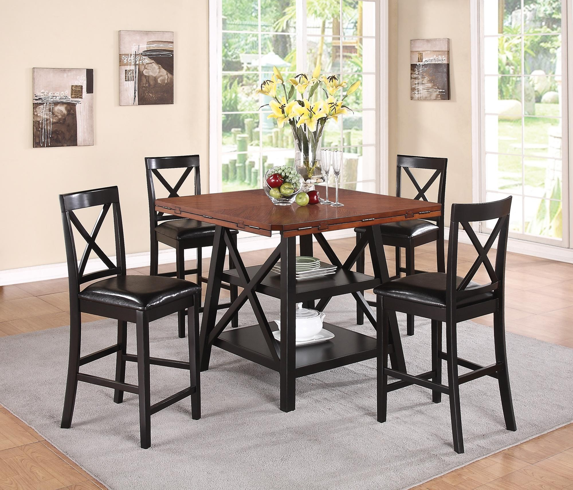 Austin round counter height dining room set 104178 for Counter height dining set