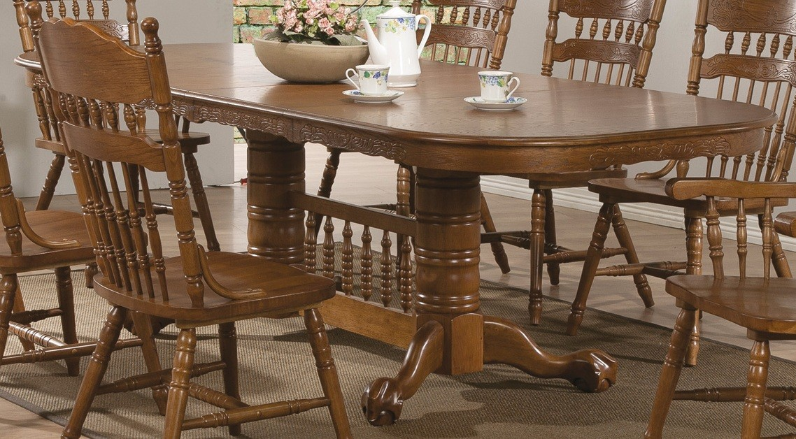 Brooks Oak Extendable Dining Table from Coaster 104271  : 104271t from colemanfurniture.com size 1138 x 628 jpeg 257kB