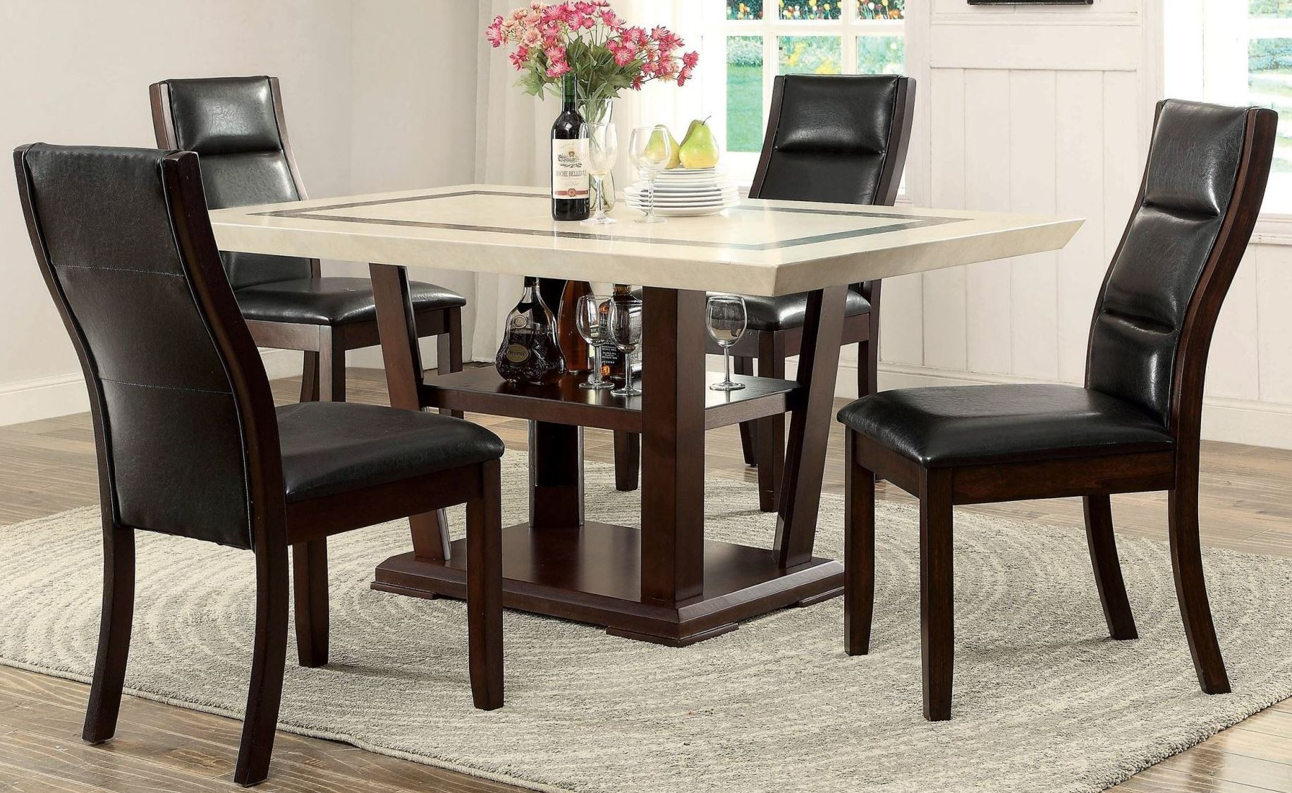 lacombe cappuccino rectangular dining room set from lavon cappuccino counter height dining room set from