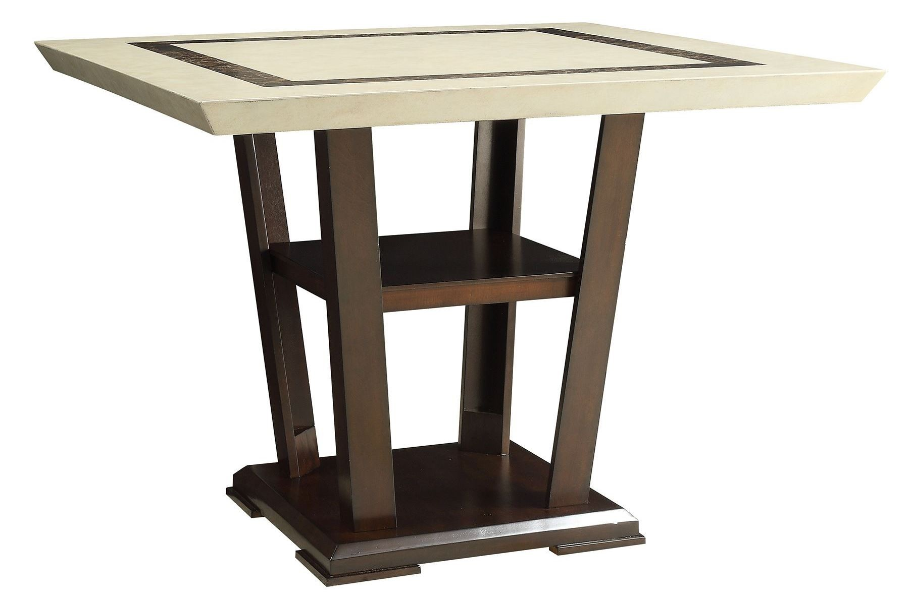 lacombe cappuccino rectangular counter height dining table from