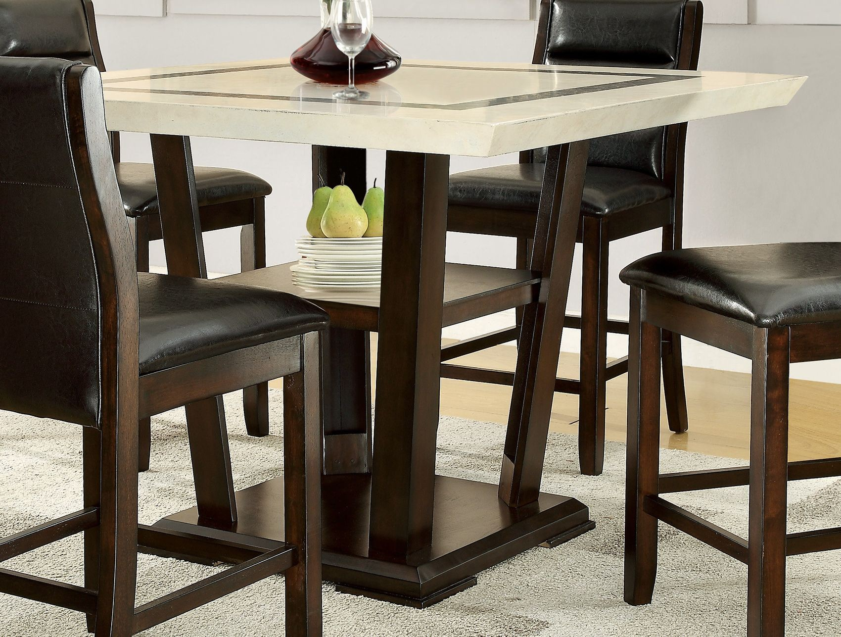 lacombe cappuccino rectangular counter height dining table from coaster 105848 coleman furniture. Black Bedroom Furniture Sets. Home Design Ideas