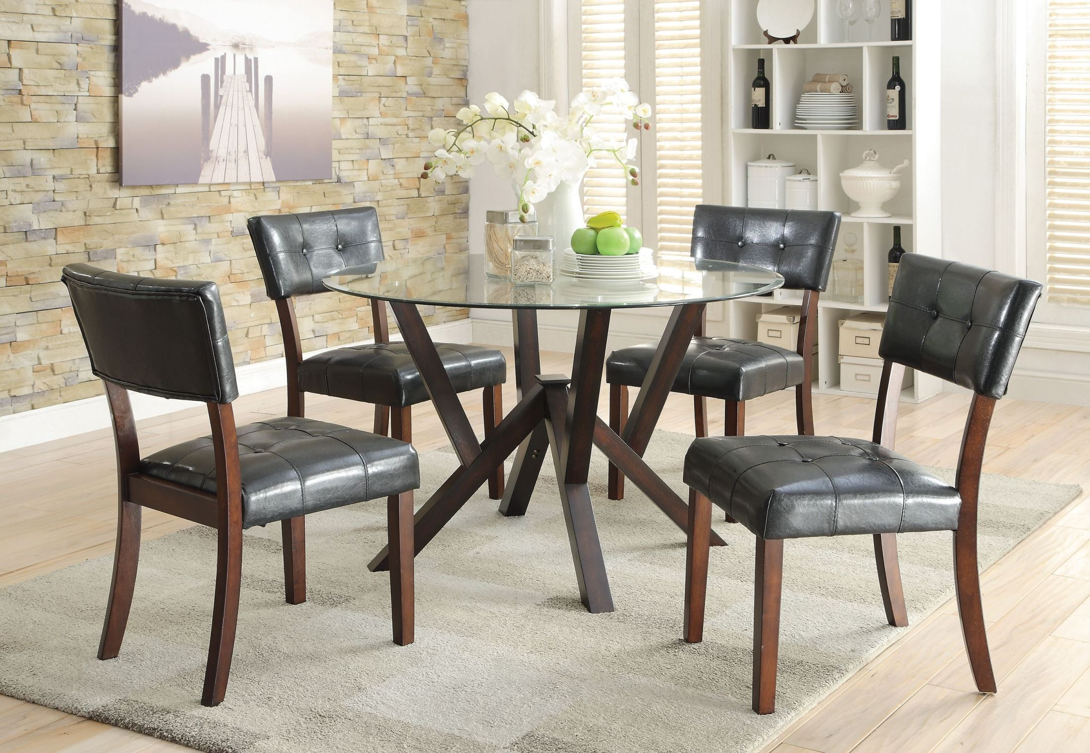 beaux cappuccino round dining room set from coaster oakdale cappuccino 5 pcs dining room set from coaster