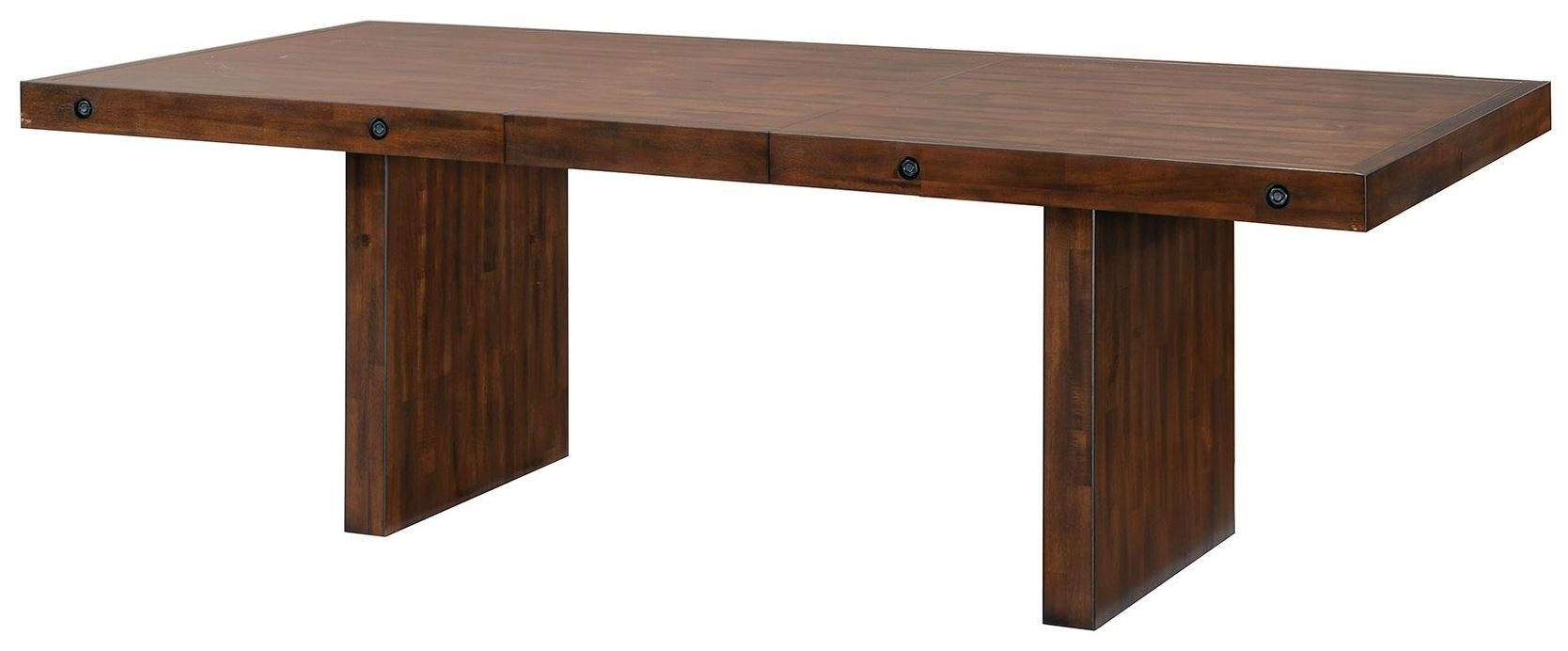 Montague Rustic Brown Extendable Rectangular Dining Table  : 105981 c from colemanfurniture.com size 1668 x 692 jpeg 84kB