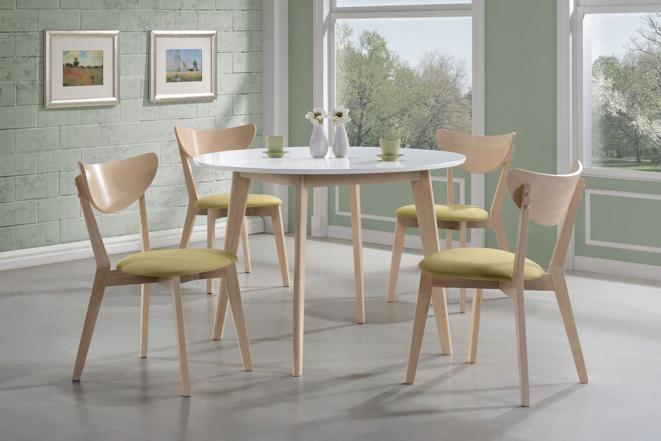 appel white wash dining room set 106050 coaster