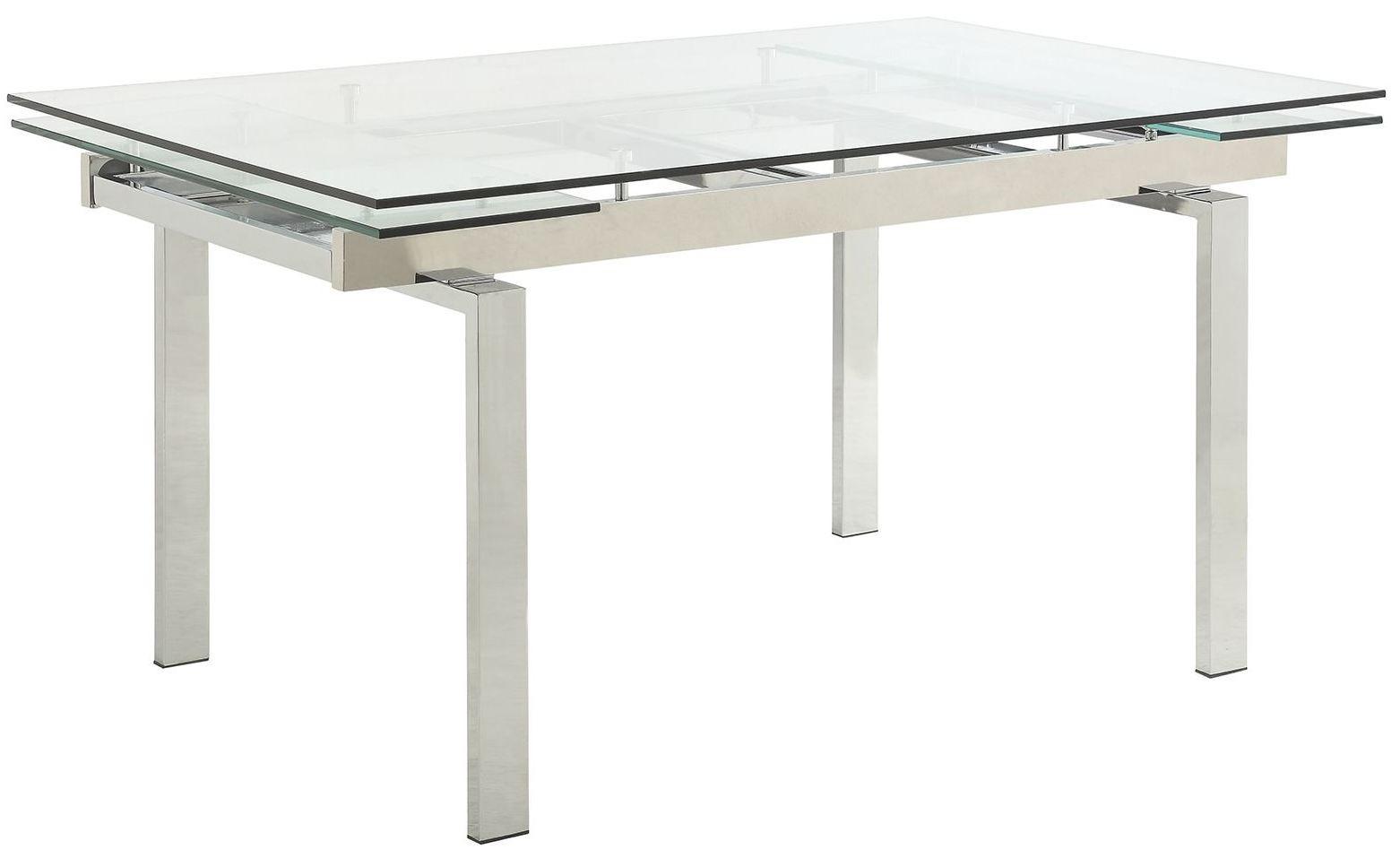 wexford chrome dining room set 106281 coaster furniture