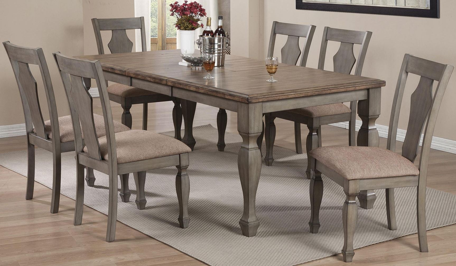 riverbend white and antique dining room set 106301 coaster furniture