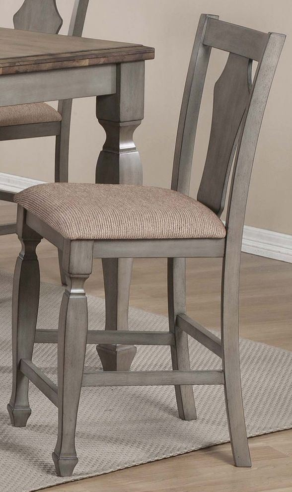 Riverbend White And Antique Counter Height Stool 106309