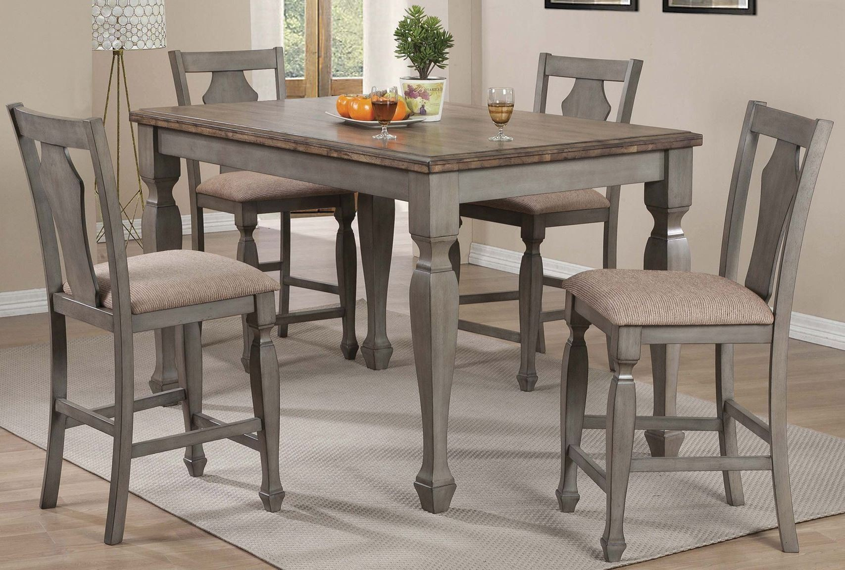 White furniture company dining room set