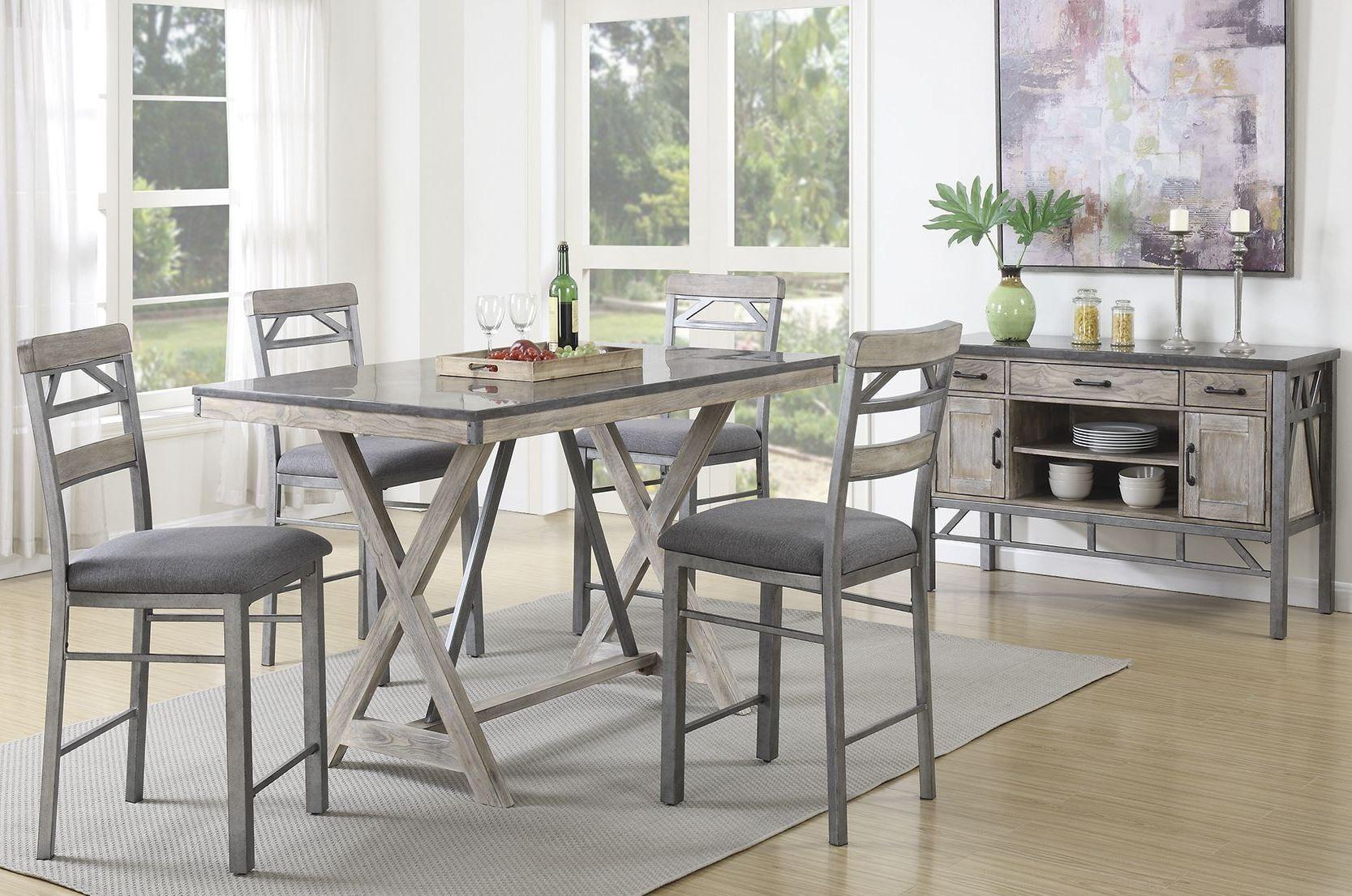 melbourne antique elm counter height dining room set