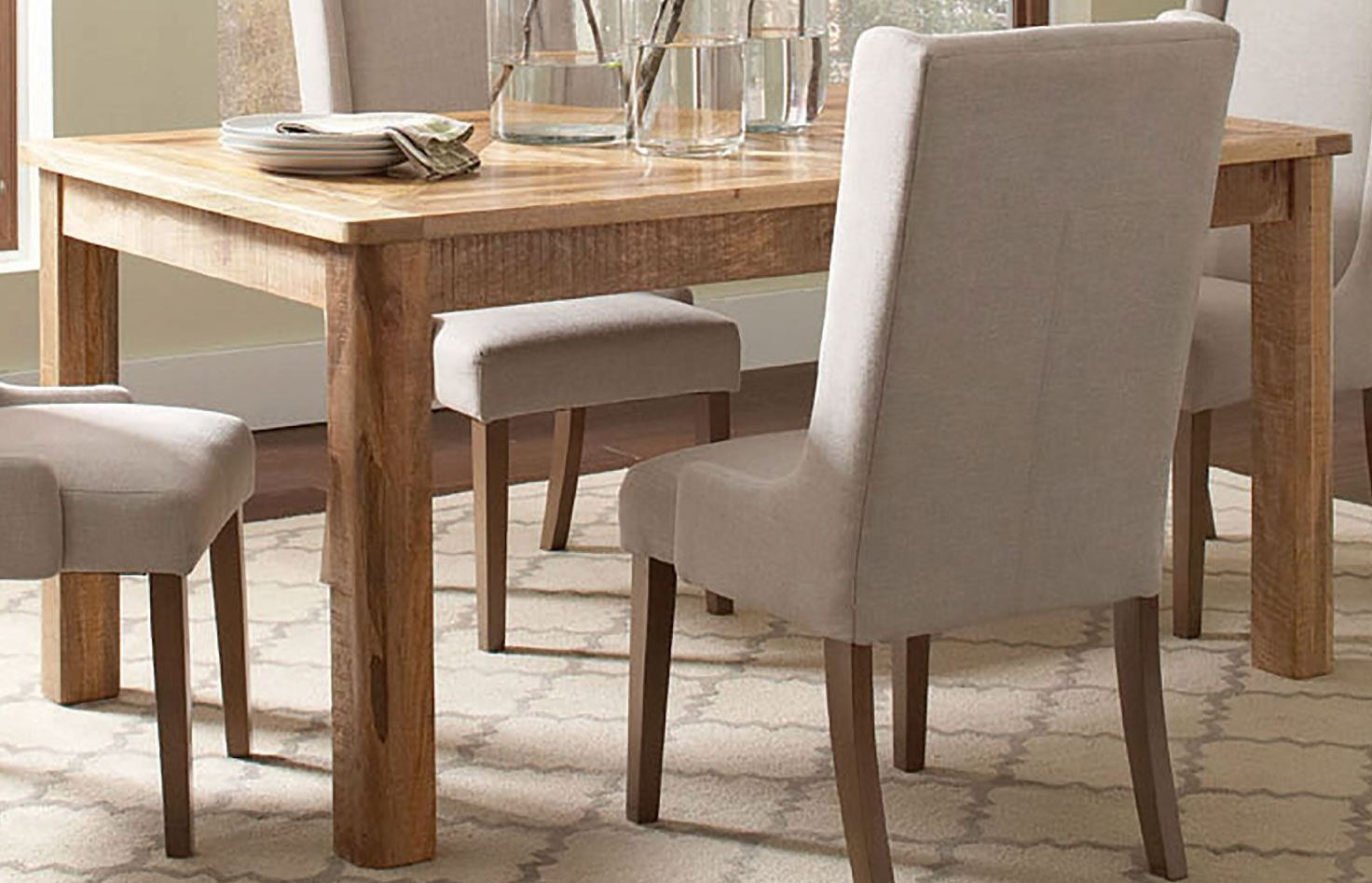 solomon natural mango dining table 106691 coaster furniture. Black Bedroom Furniture Sets. Home Design Ideas
