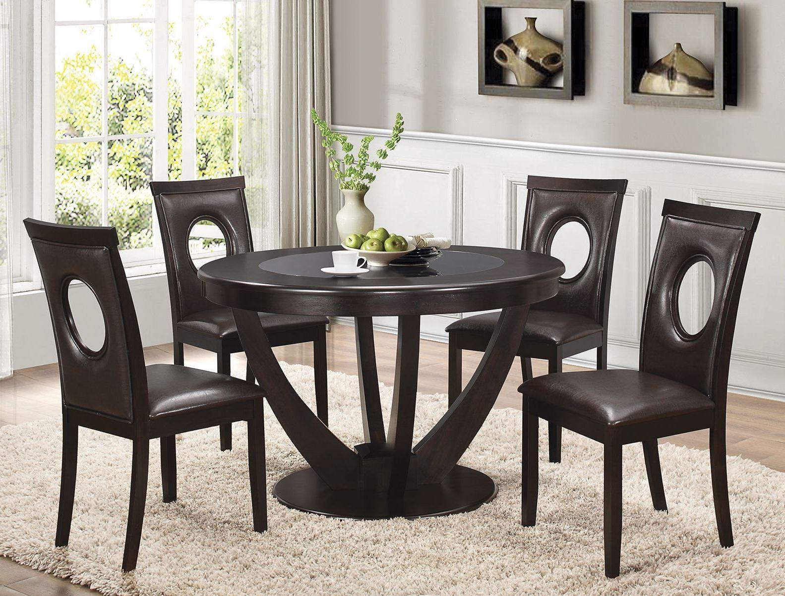 stapleton cappuccino round dining room set 106741 cappuccino counter height dining room set 100319 coaster