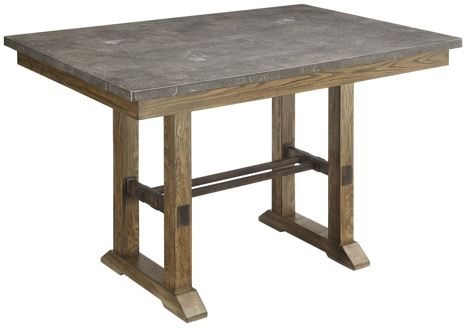 willowbrook rustic ash counter height table 106988