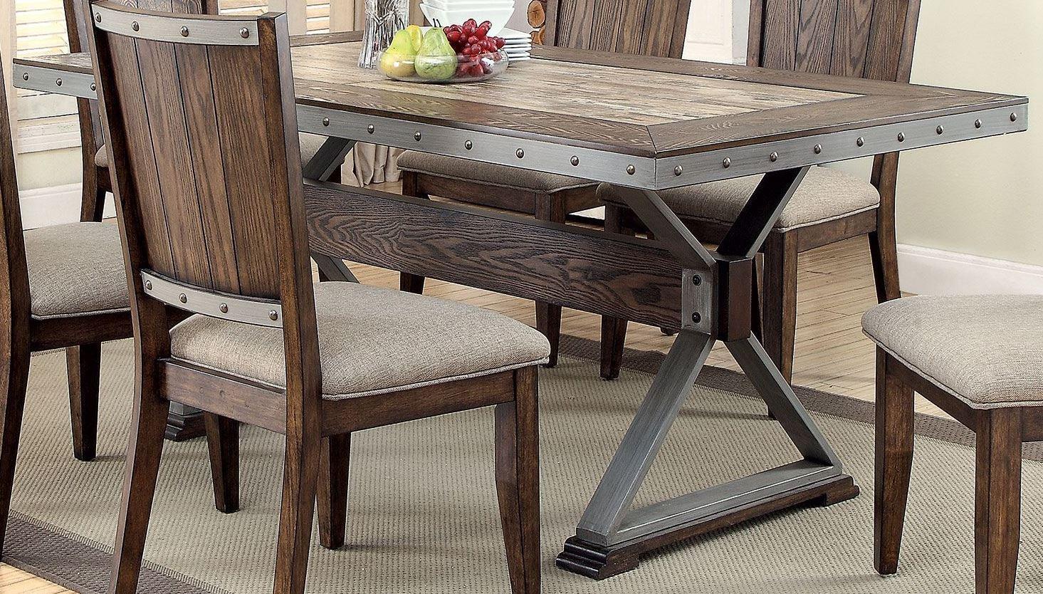 Beckett Dark Oak Dining Table 107011 Coaster Furniture