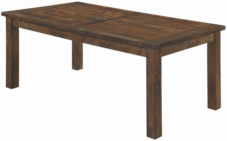 Coleman rustic golden brown rectangular dining table