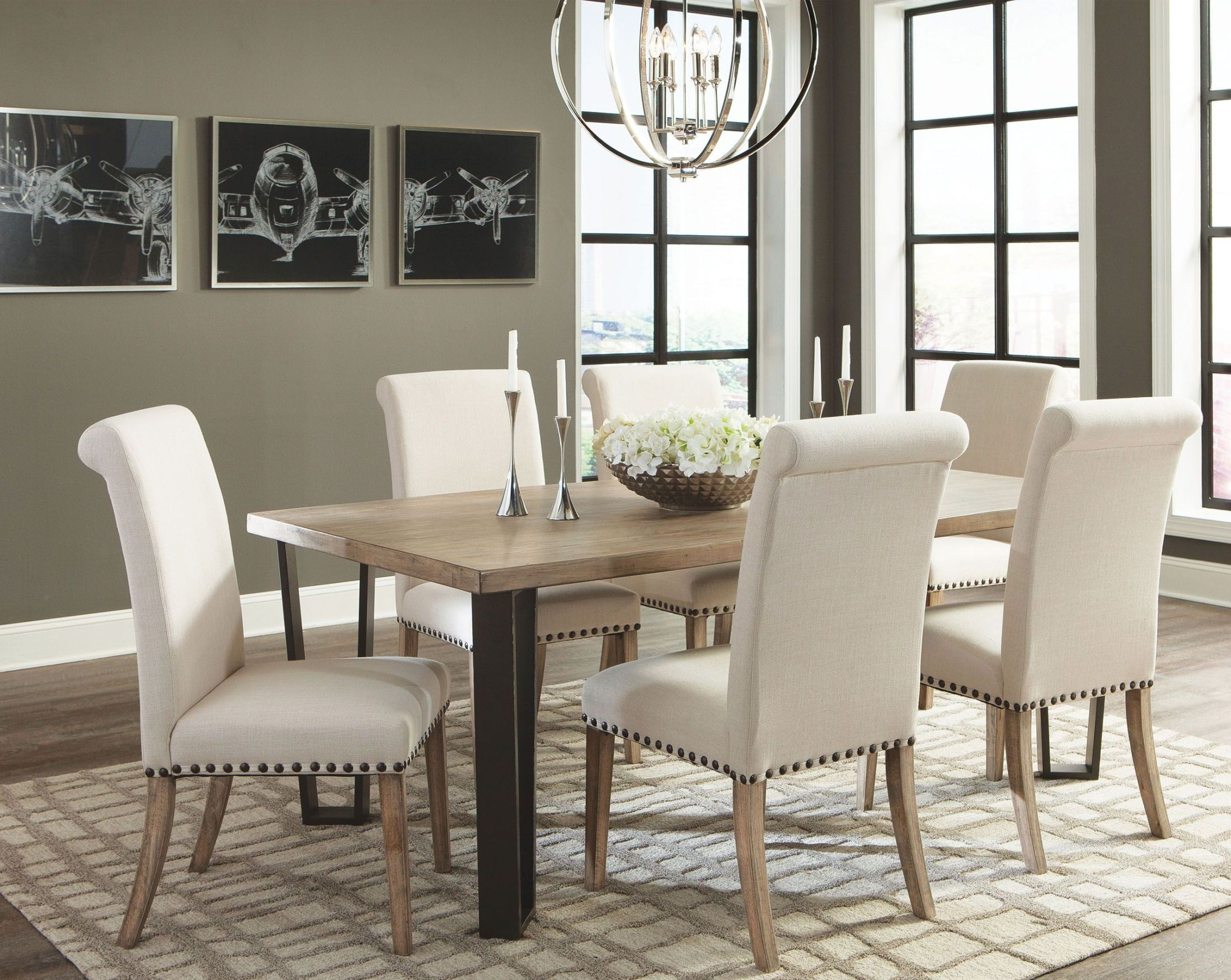 modern vintage rustic pine dining table 107431 coaster furniture