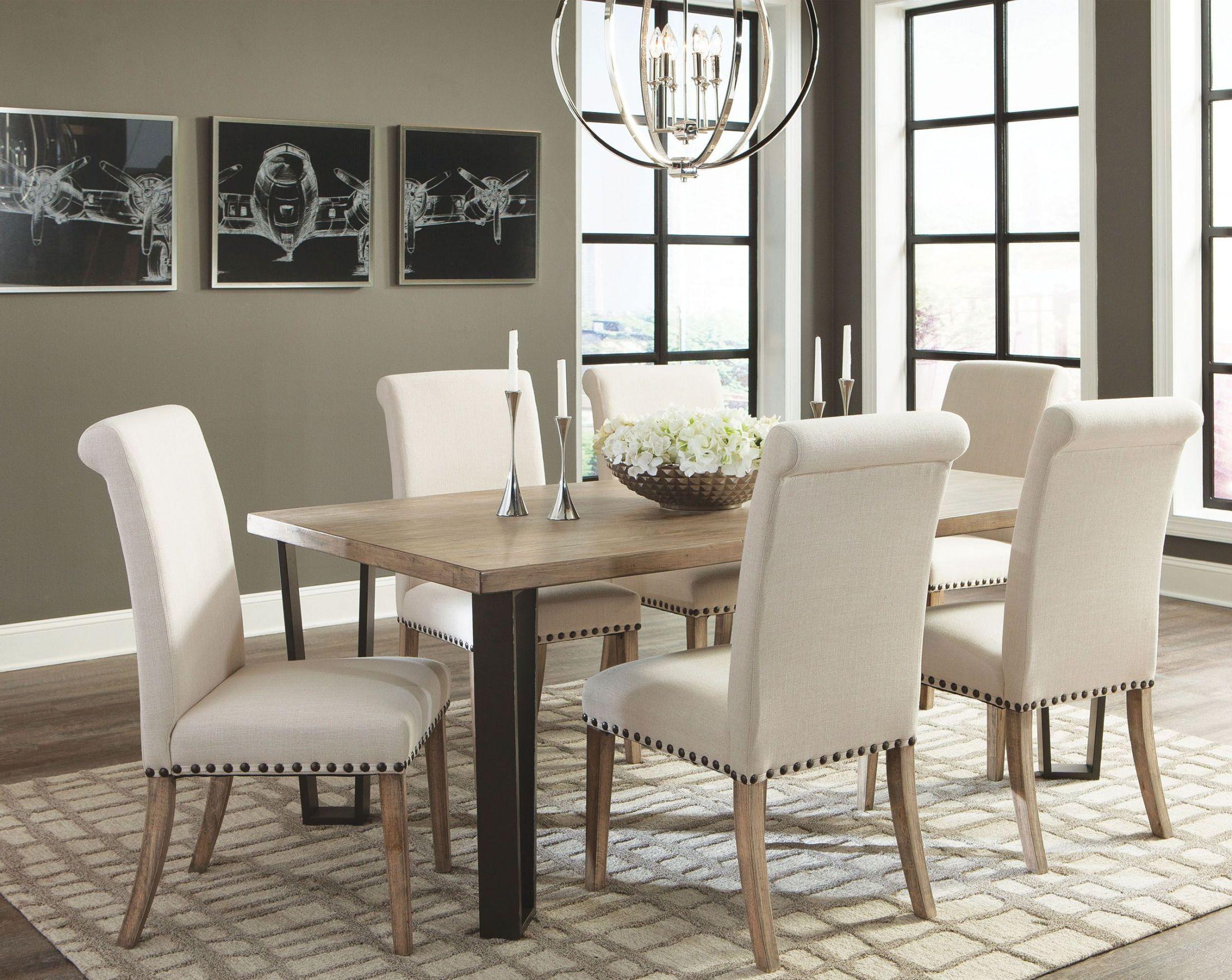 Modern Vintage Rustic Pine Dining Room Set 107431 Coaster Furniture