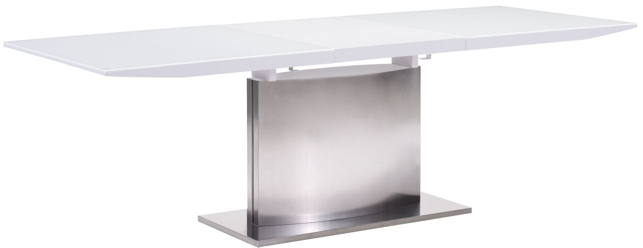 Pierrefronds White Extendable Rectangular Dining Table From Zuo Mod