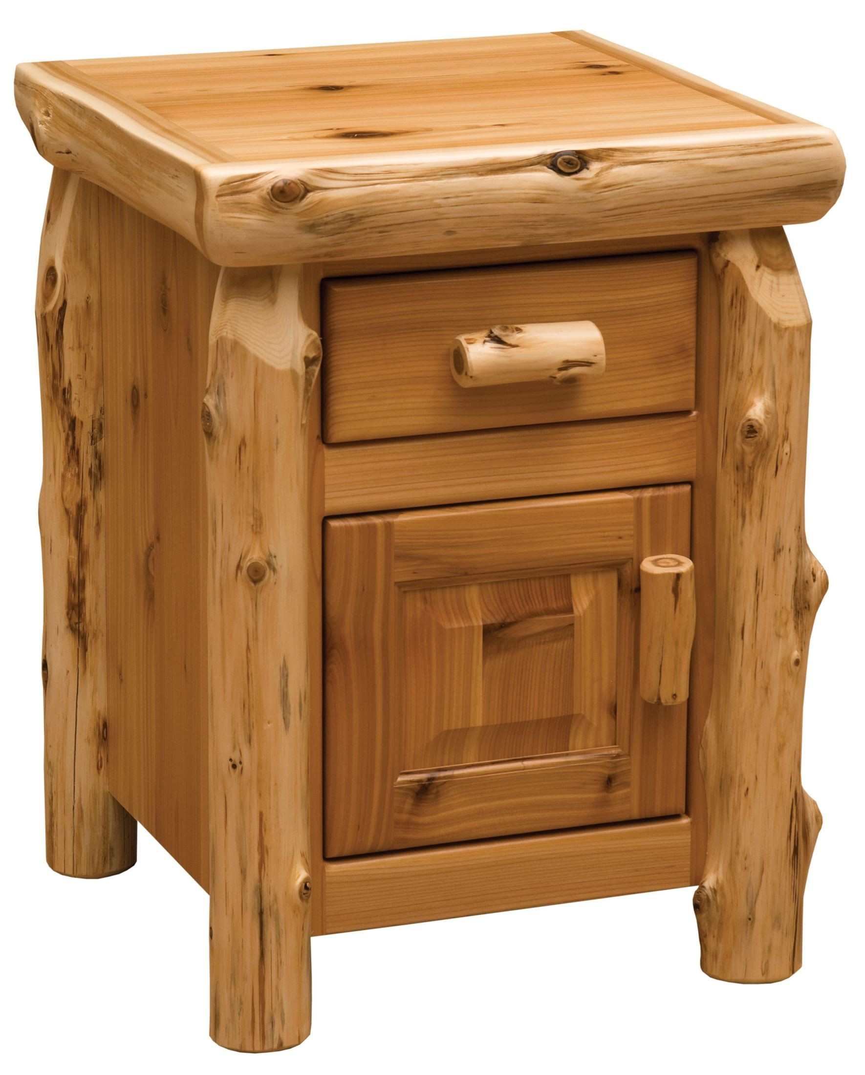 traditional cedar youth log bedroom set from fireside lodge 10100