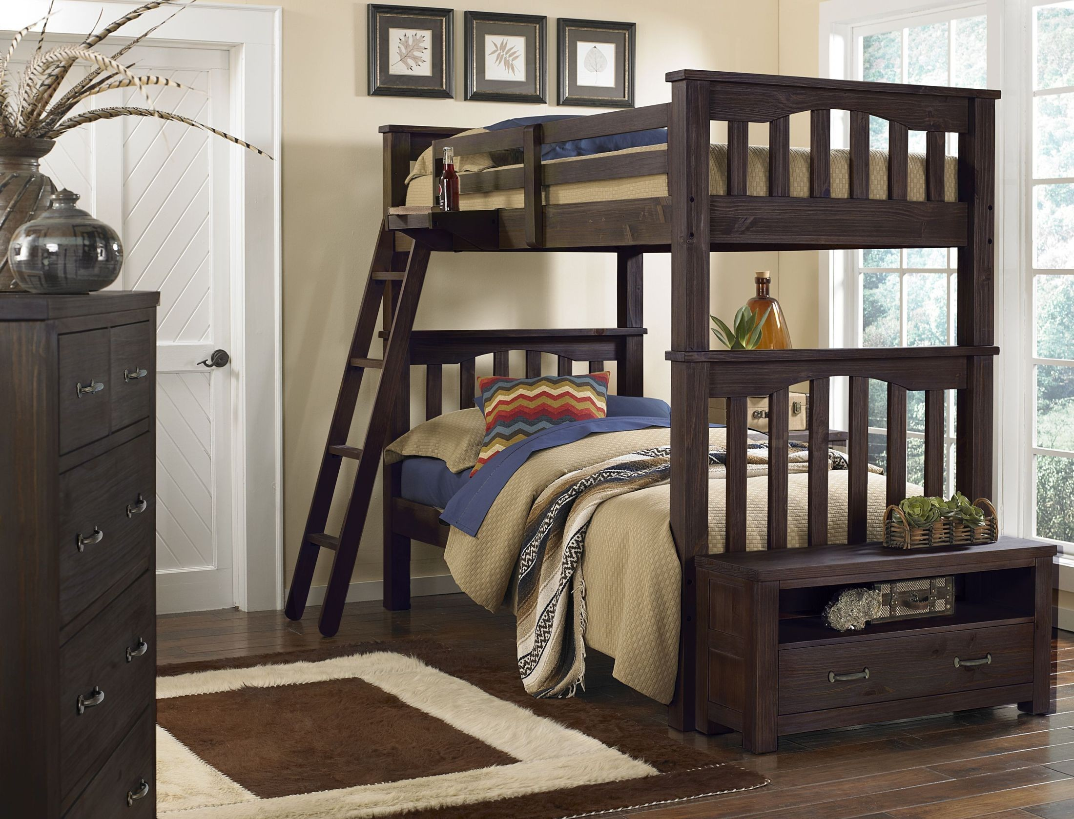 Espresso Twin Bunk Beds ~ Highlands harper espresso twin over bunk bed n