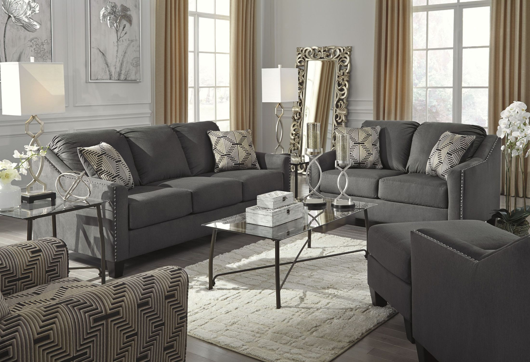 Torcello Graphite Living Room Set 1130338 Ashley