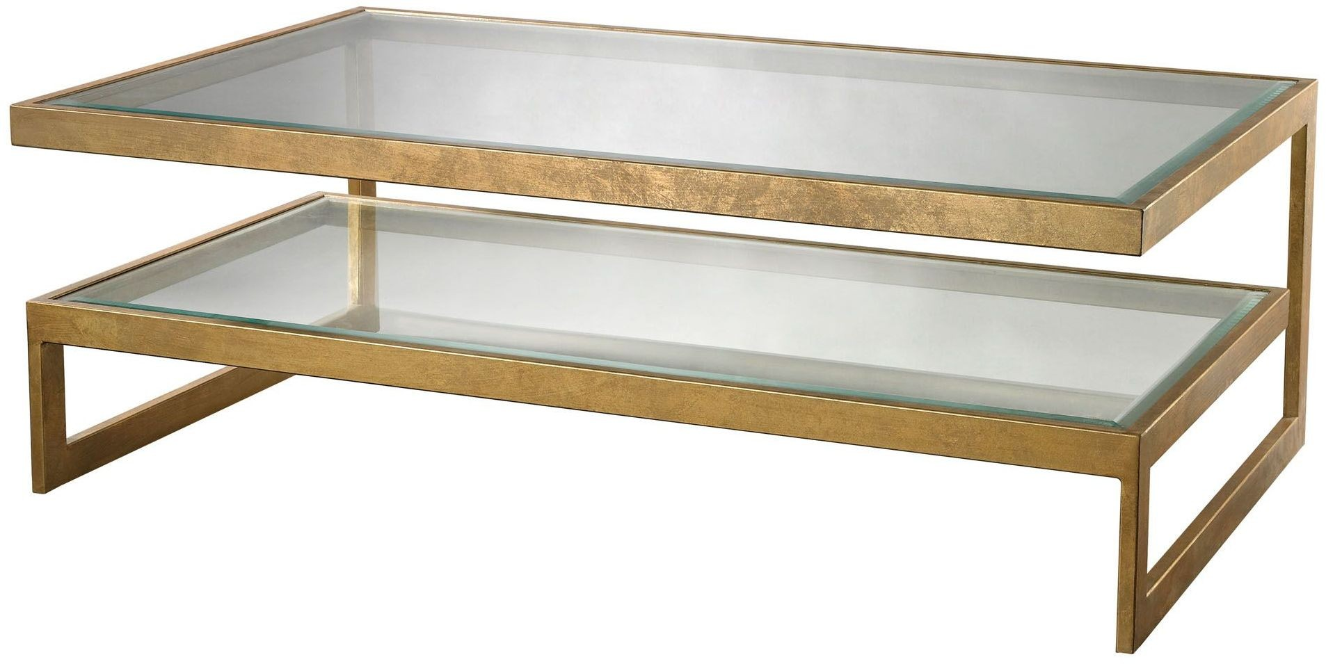 Key Antique Gold Leaf Coffee Table 114 143 Dimond Home