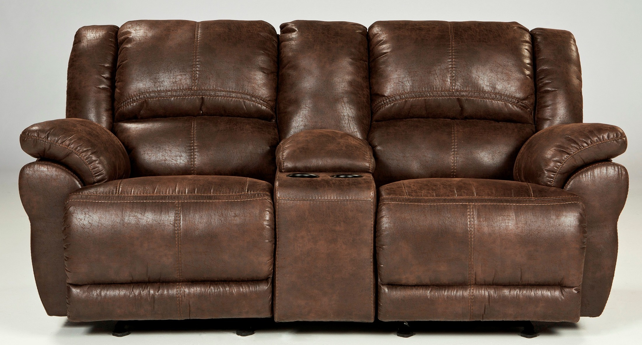 Garthay Sable Glider Reclining Loveseat With Console