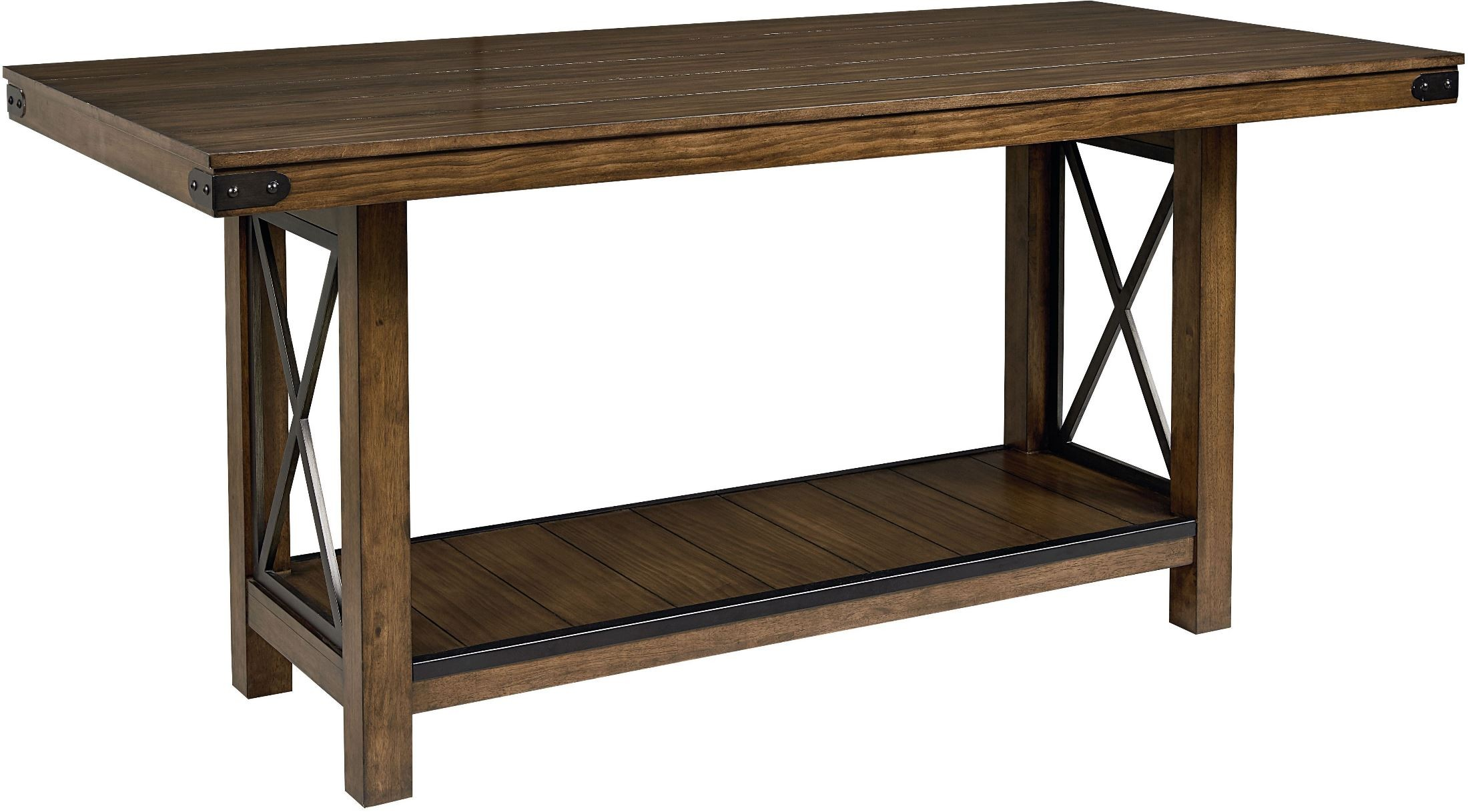 Counter Height Or Regular Dining Table : ... Brown Counter Height Trestle Dining Table , 11536, Standard Furniture