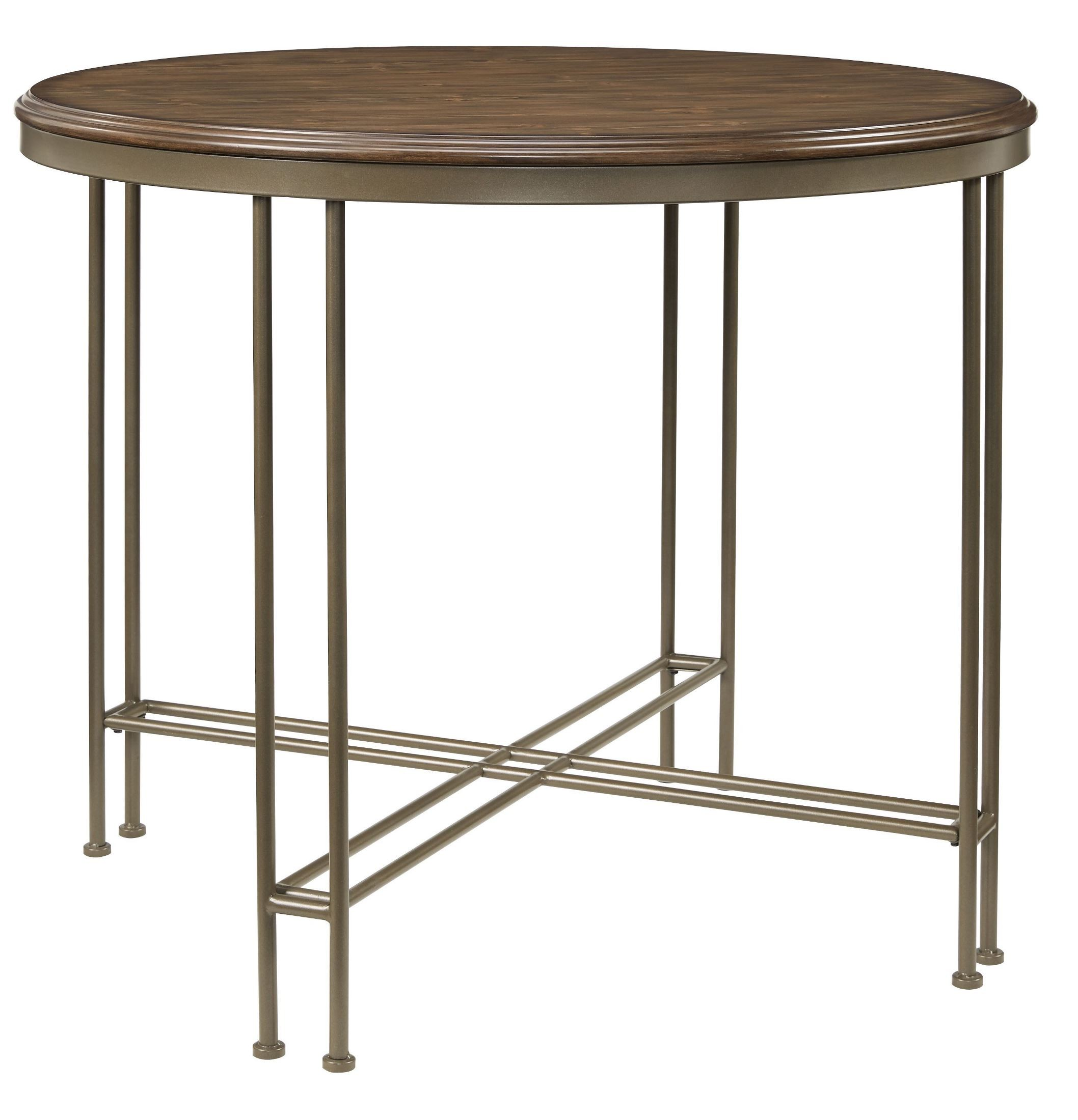 Oslo brown wood counter height dining table 11601 for Standard dining table
