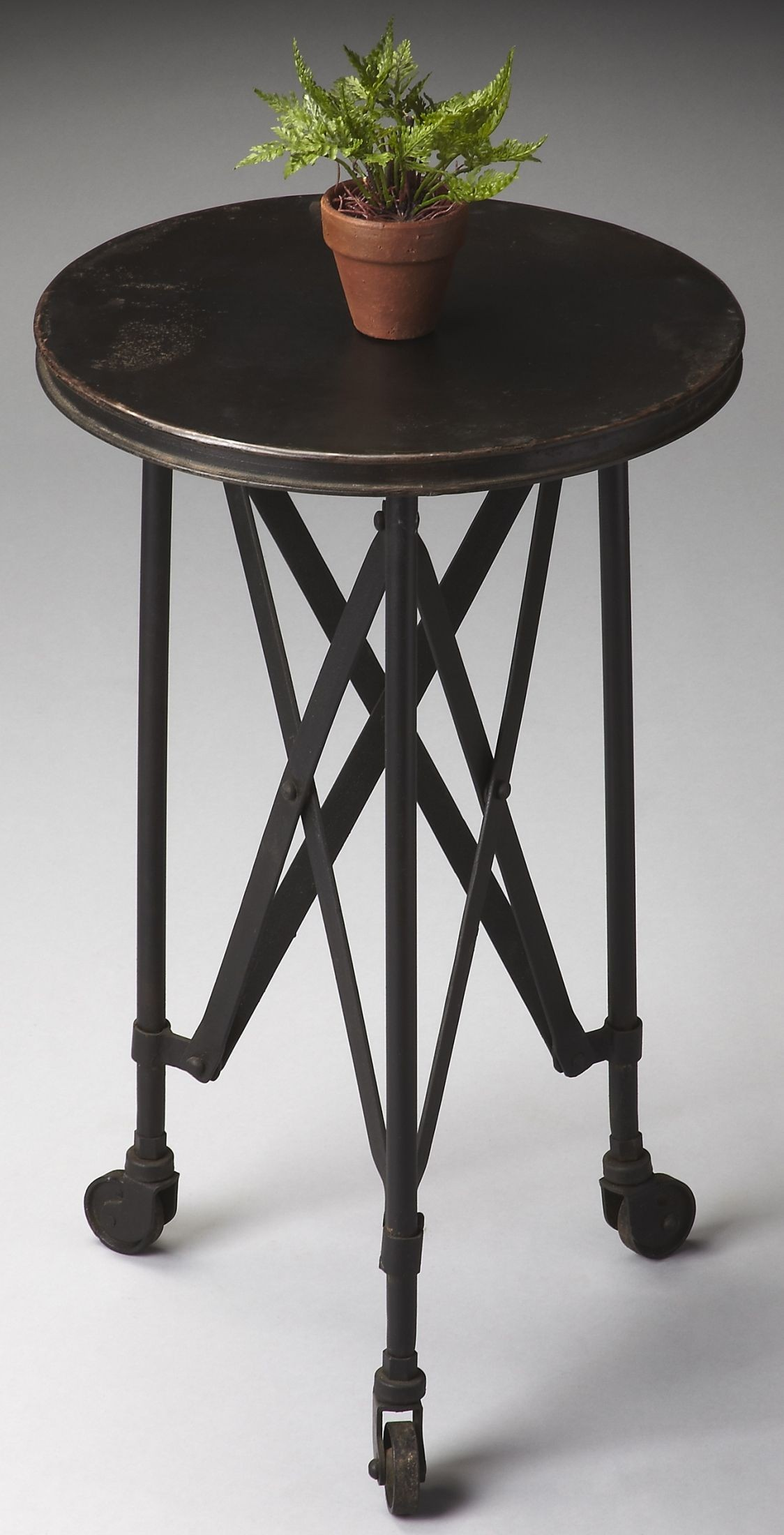 1168025 industrial chic metalworks accent table from. Black Bedroom Furniture Sets. Home Design Ideas