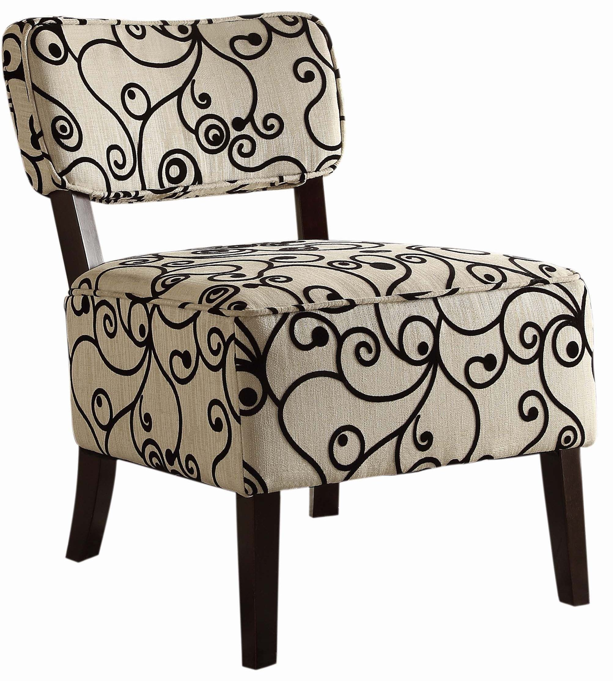 Orson Black and White Accent Chair from Homelegance
