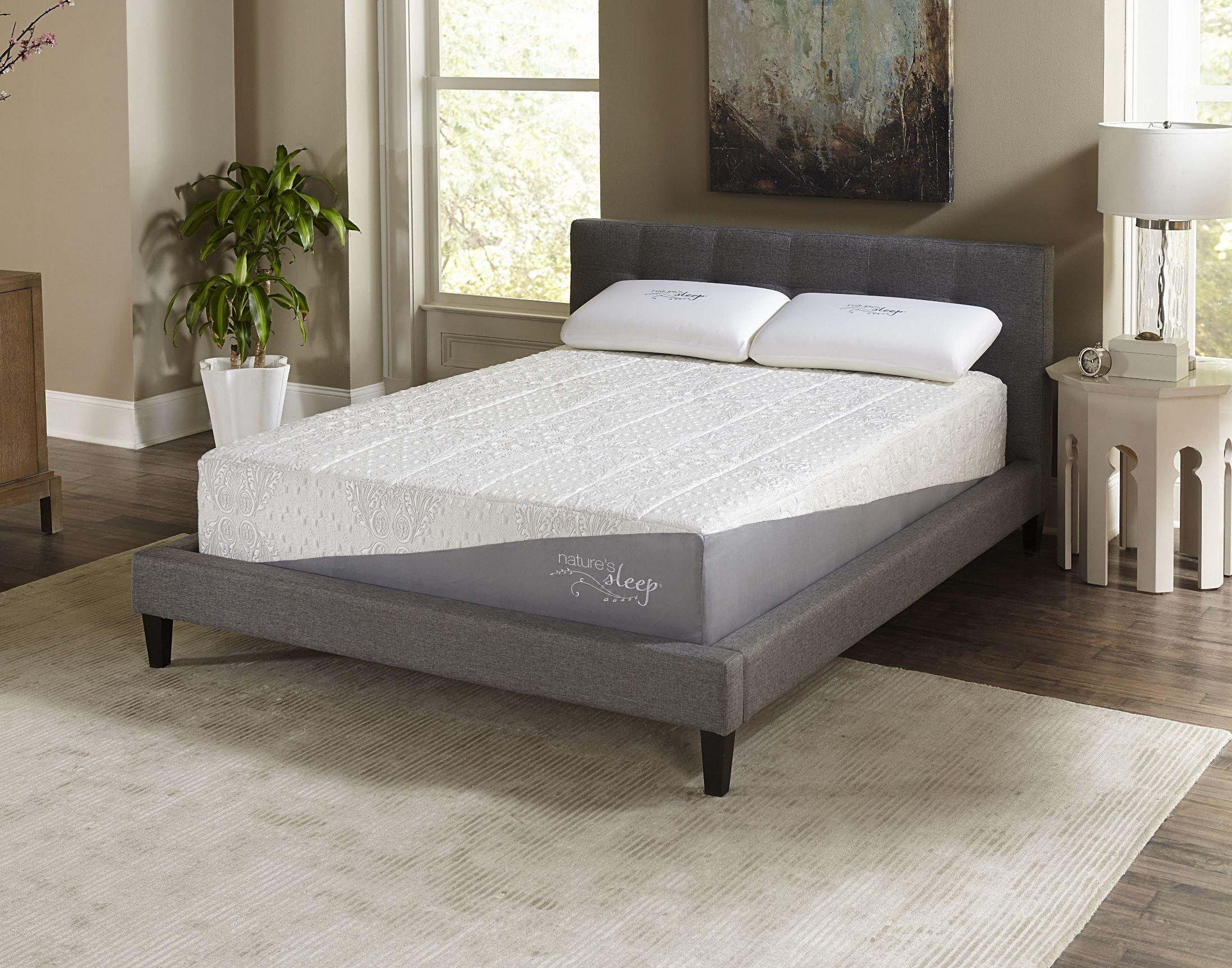 12 Gel Memory Foam Queen Firm Mattress From Nature 39 S Sleep 12f4050 Coleman Furniture
